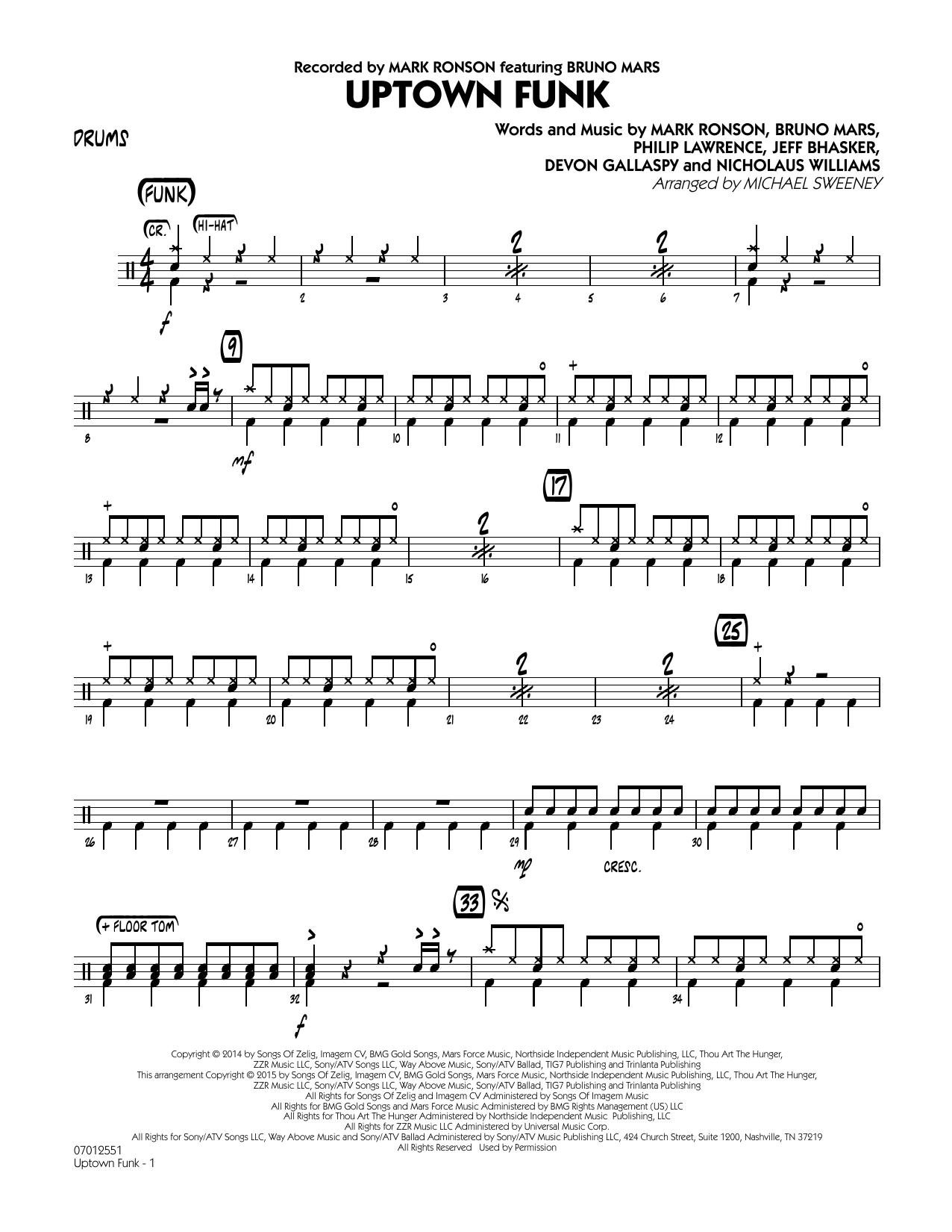 Uptown Funk - Drums (Jazz Ensemble)