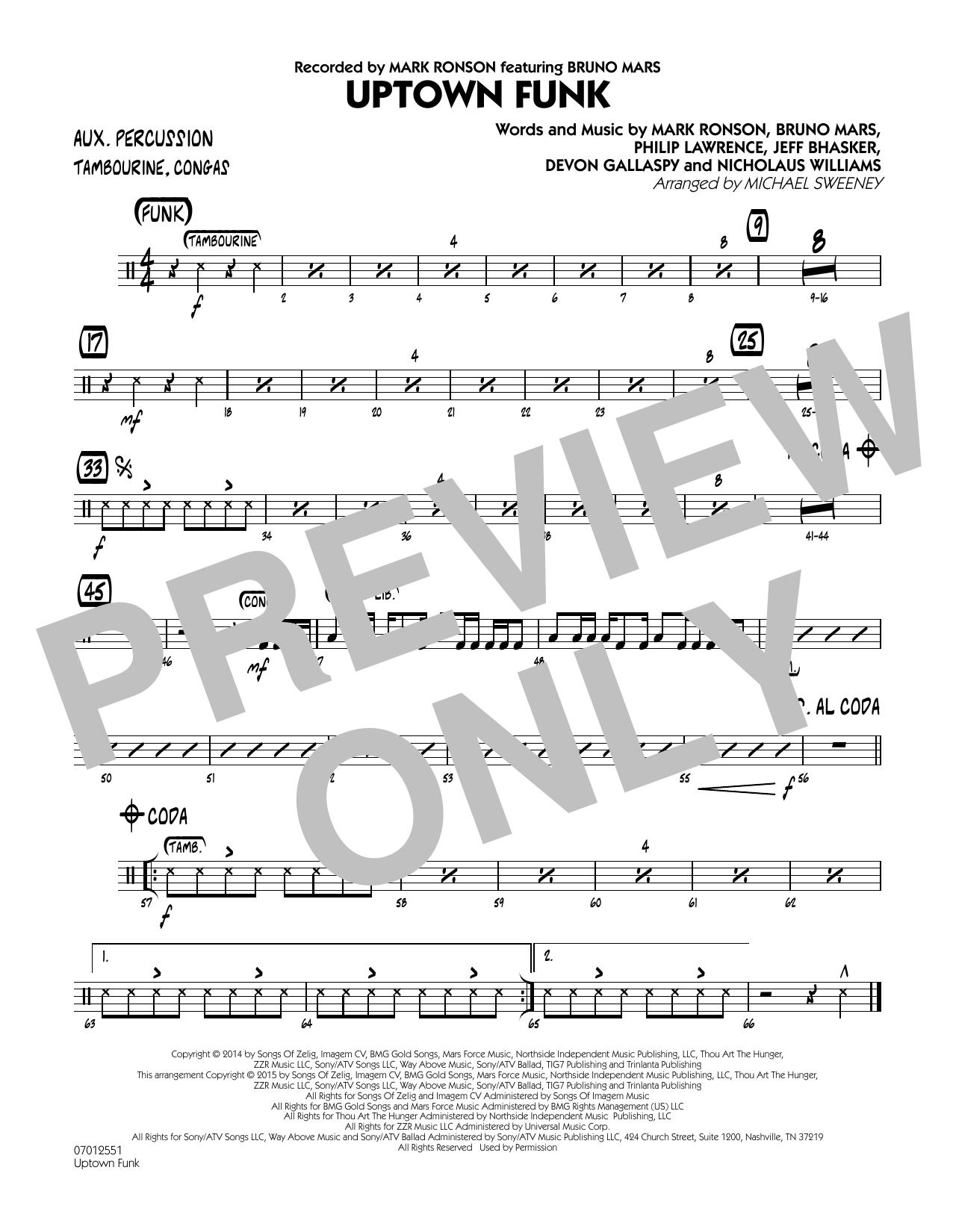 Uptown Funk - Aux Percussion (Jazz Ensemble)