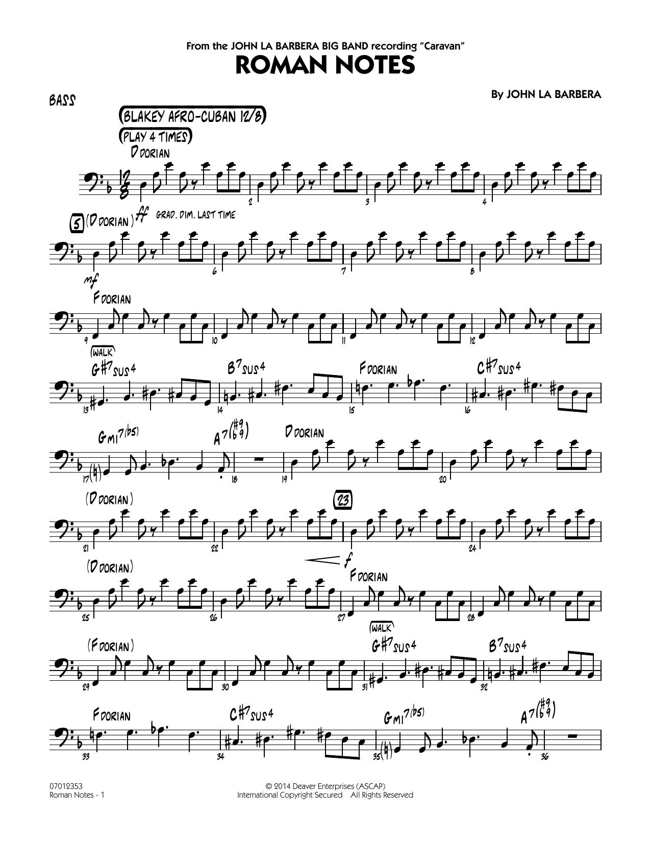 Roman Notes - Bass (Jazz Ensemble)