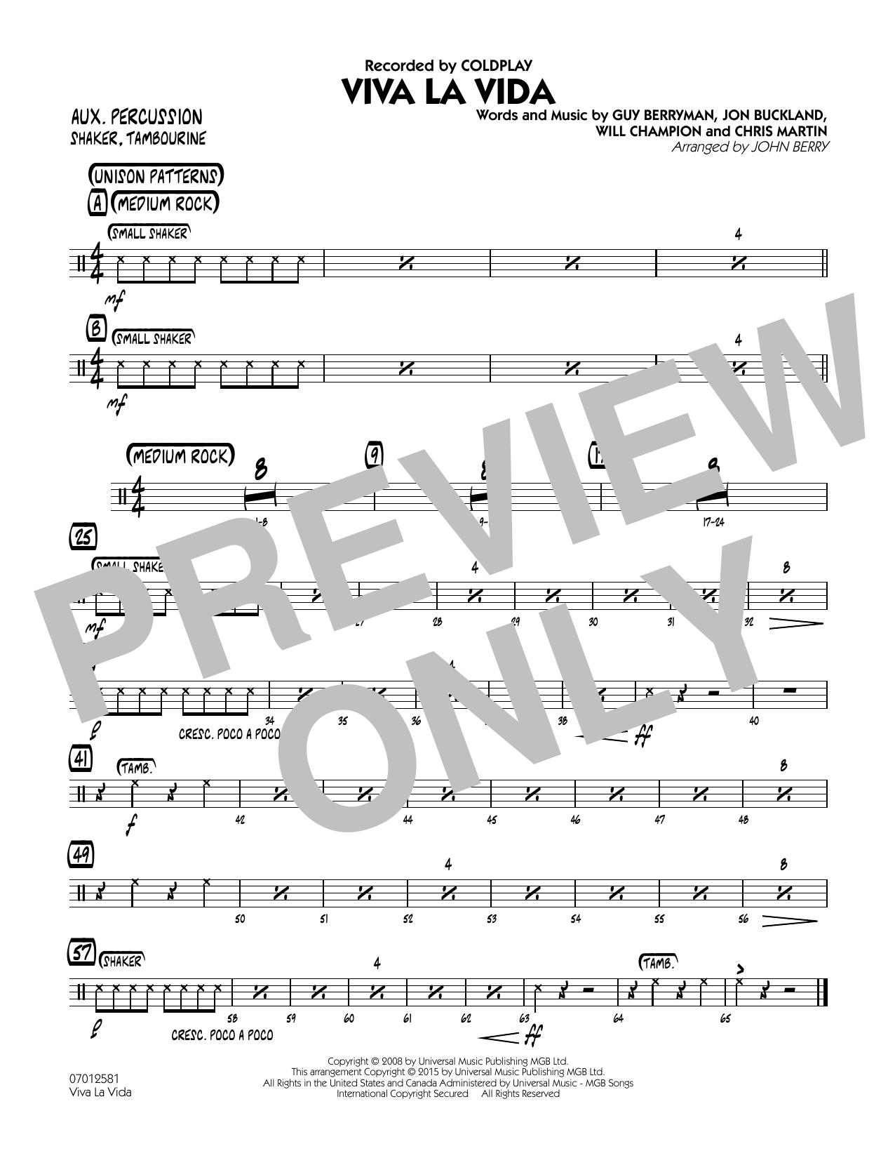 Viva La Vida - Flute (Jazz Ensemble)