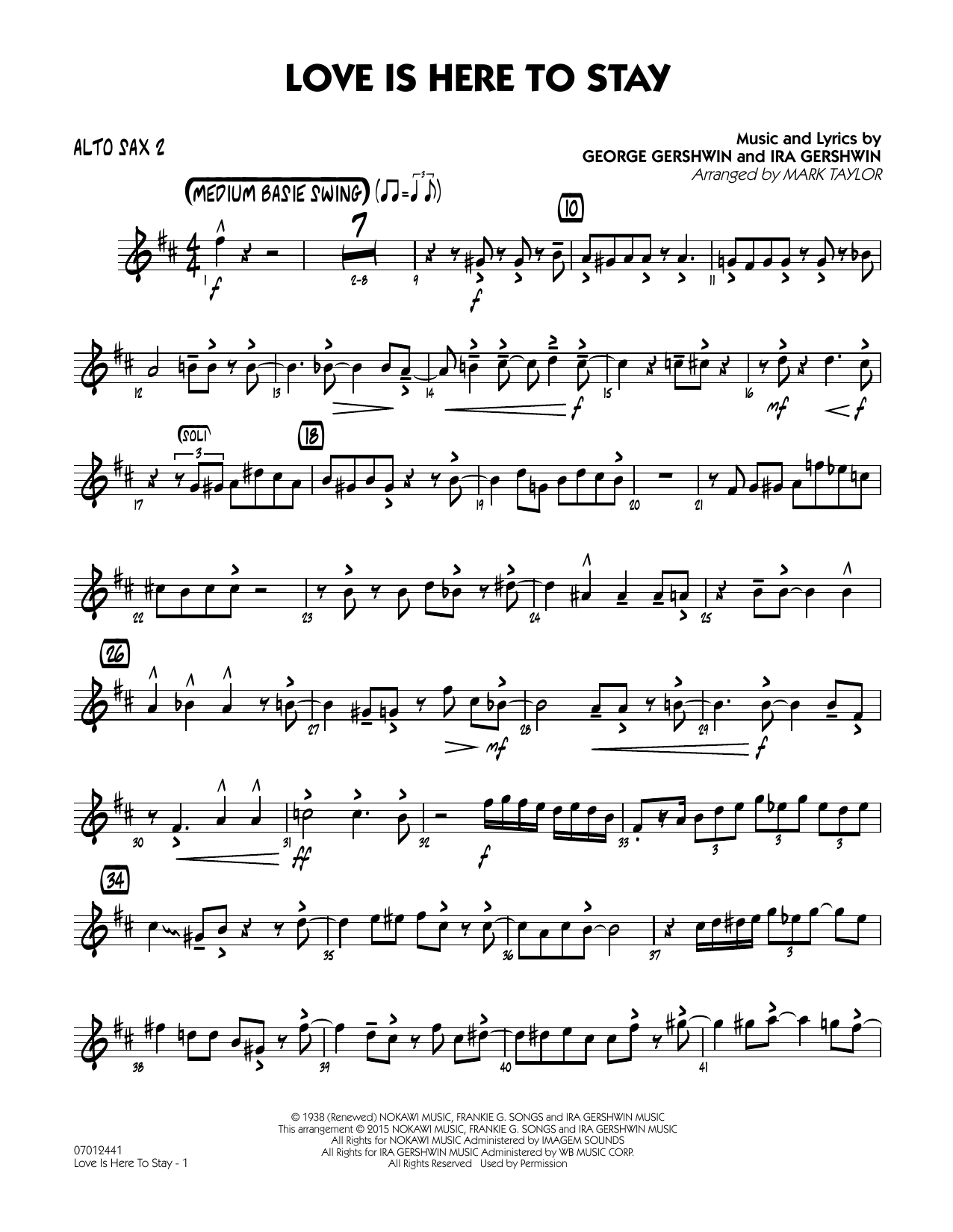 Love Is Here to Stay - Alto Sax 2 (Jazz Ensemble)