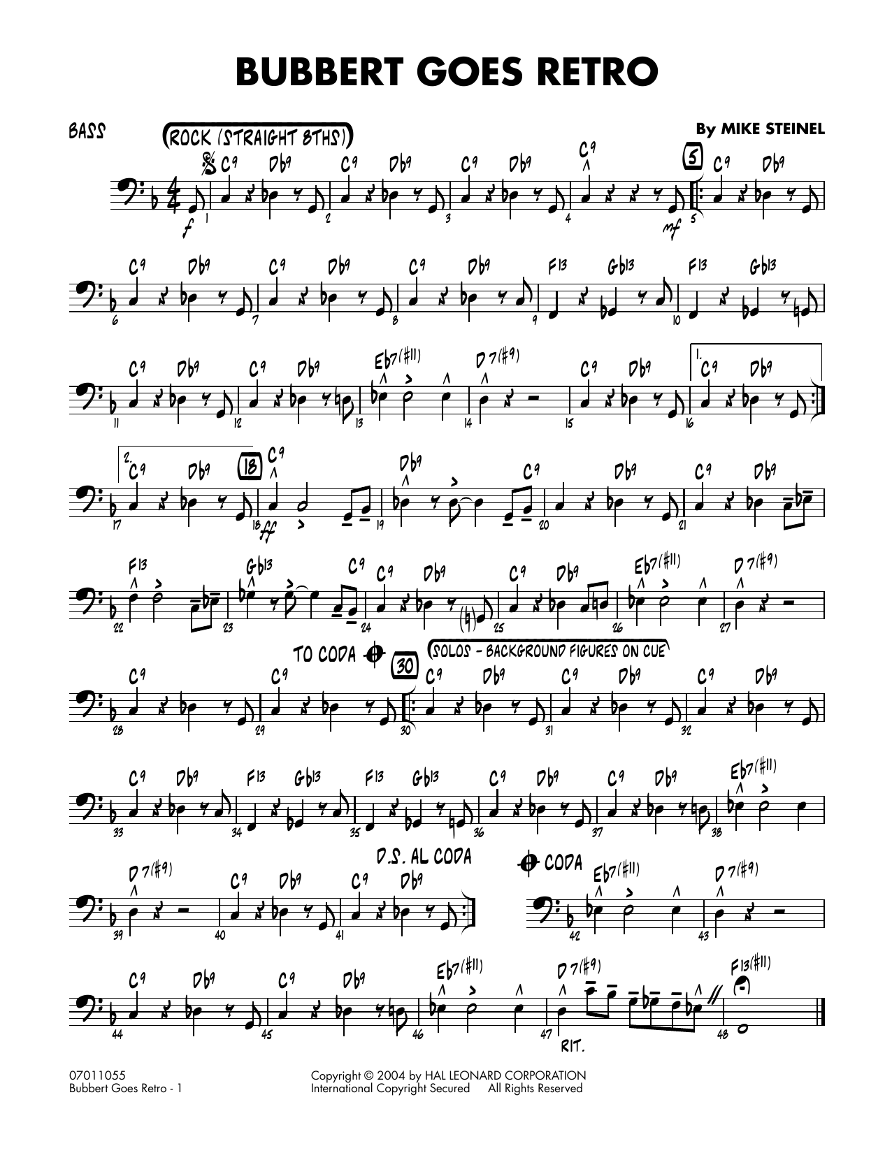 Bubbert Goes Retro - Bass (Jazz Ensemble)
