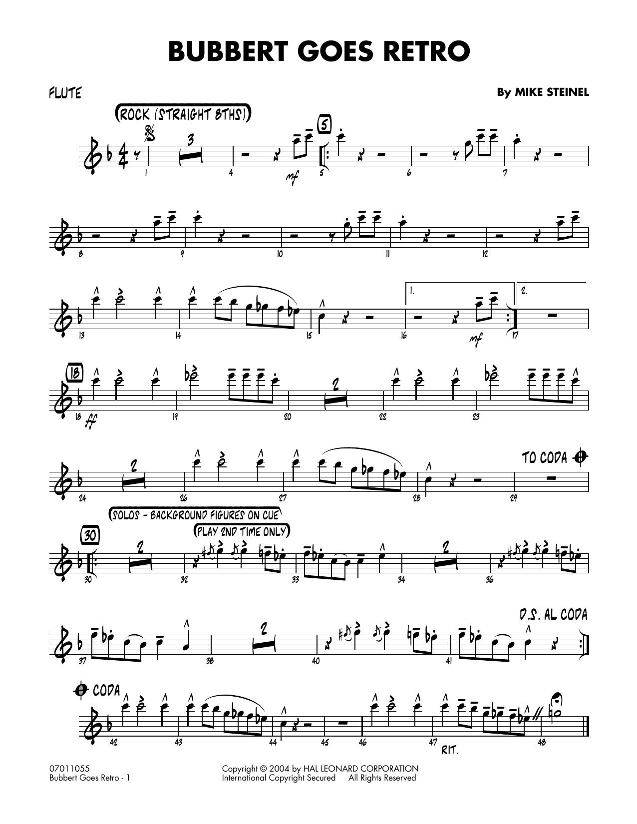 Bubbert Goes Retro - Flute (Jazz Ensemble)