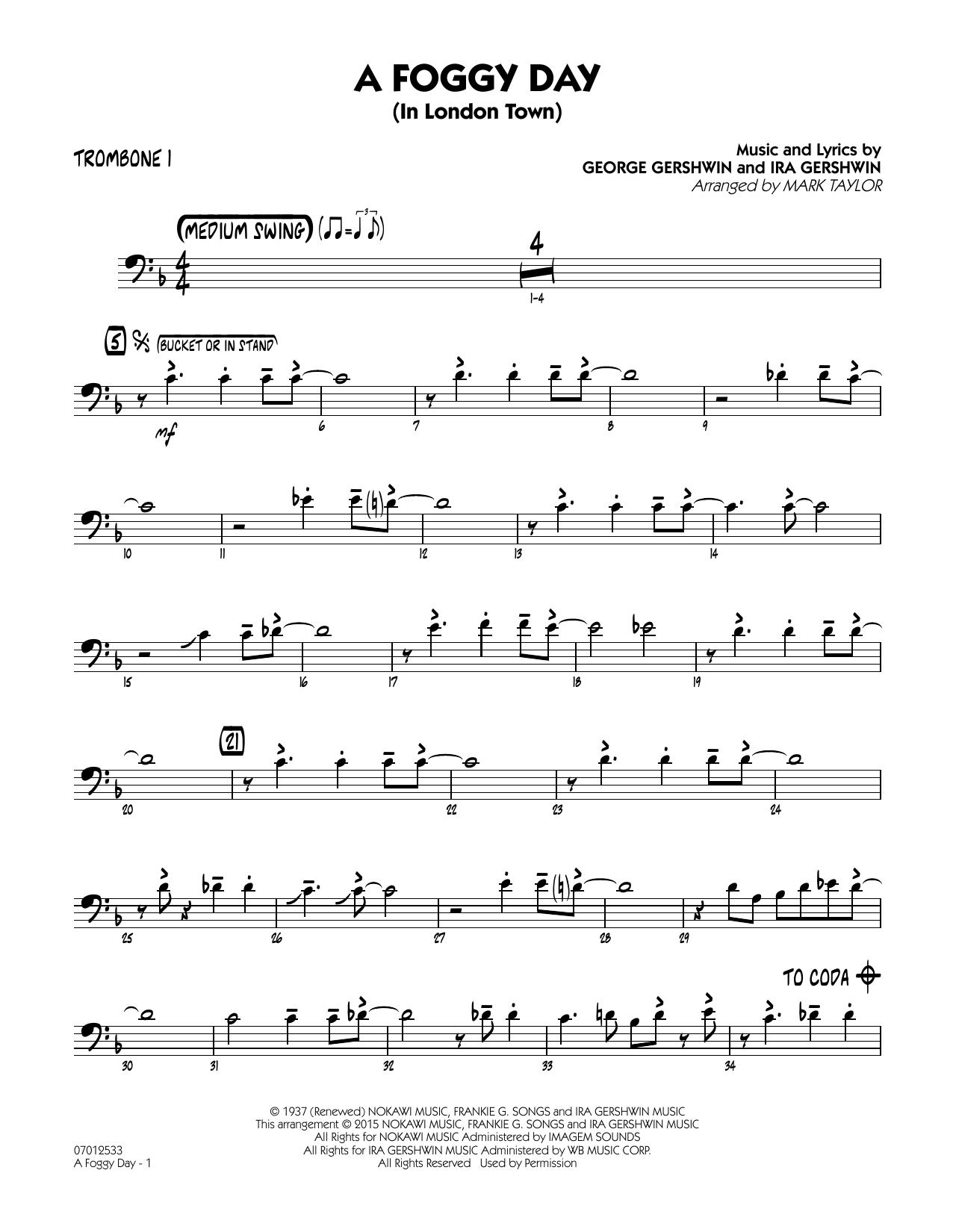 A Foggy Day (In London Town) - Trombone 1 (Jazz Ensemble)