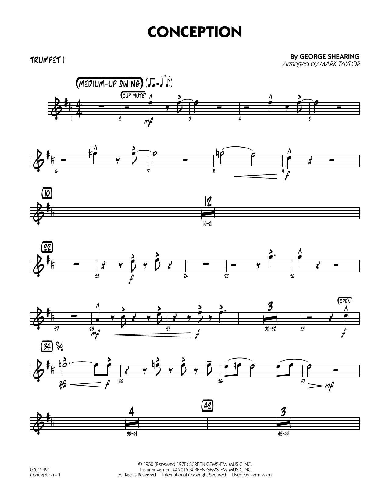 Conception - Trumpet 1 (Jazz Ensemble)