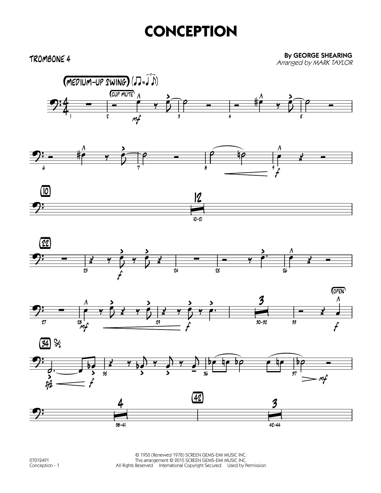Conception - Trombone 4 (Jazz Ensemble)