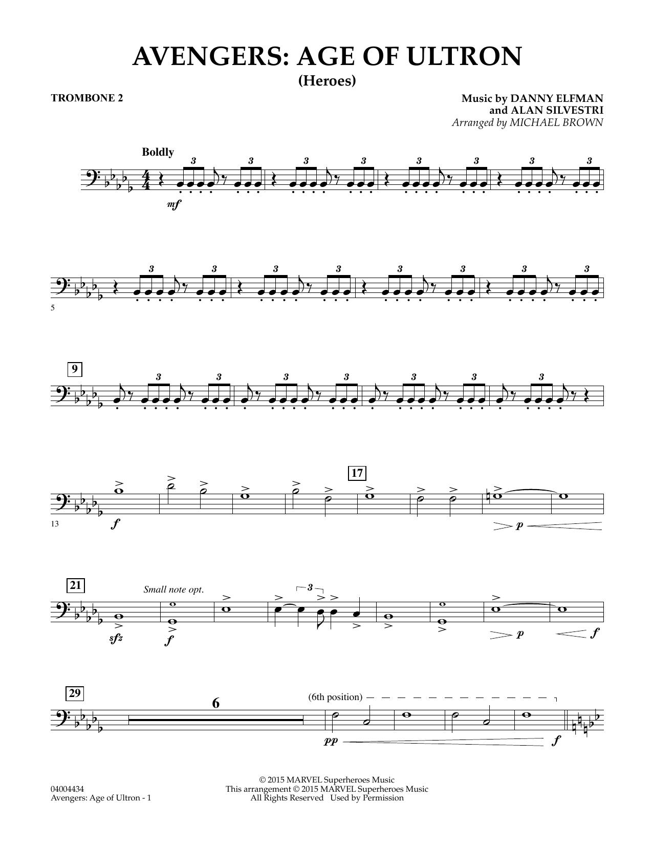 Avengers: The Age of Ultron (Main Theme) - Trombone 2