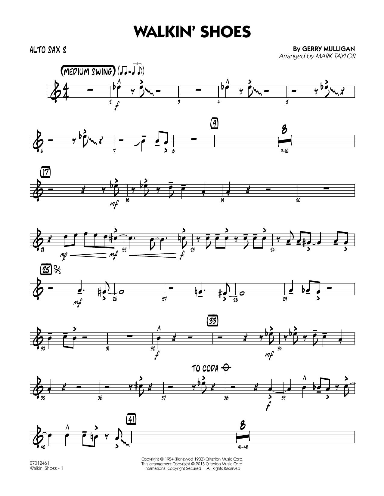 Walkin' Shoes - Alto Sax 2 (Jazz Ensemble)