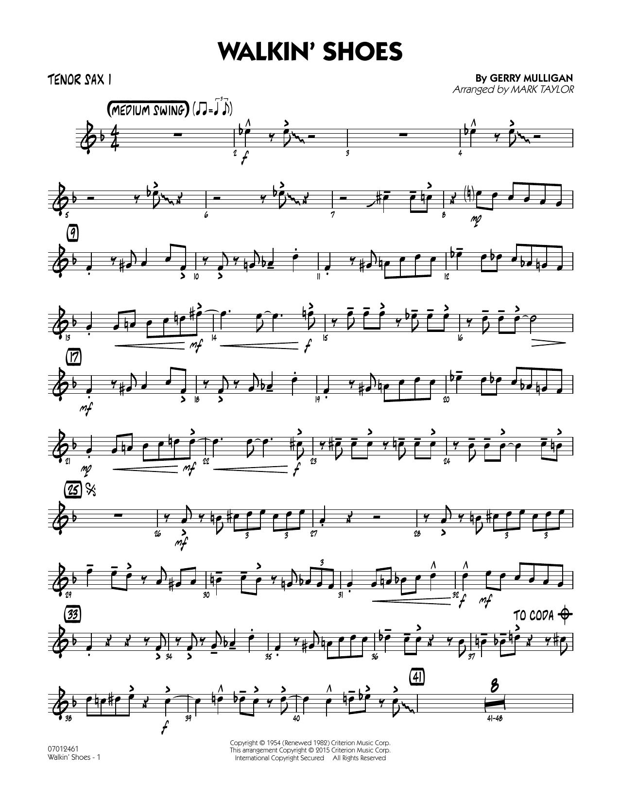 Walkin' Shoes - Tenor Sax 1 (Jazz Ensemble)
