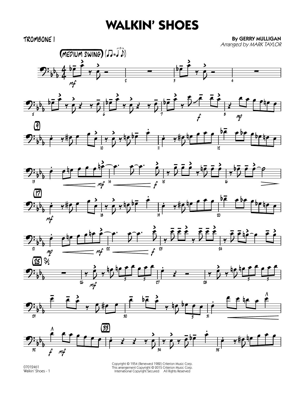 Walkin' Shoes - Trombone 1 (Jazz Ensemble)