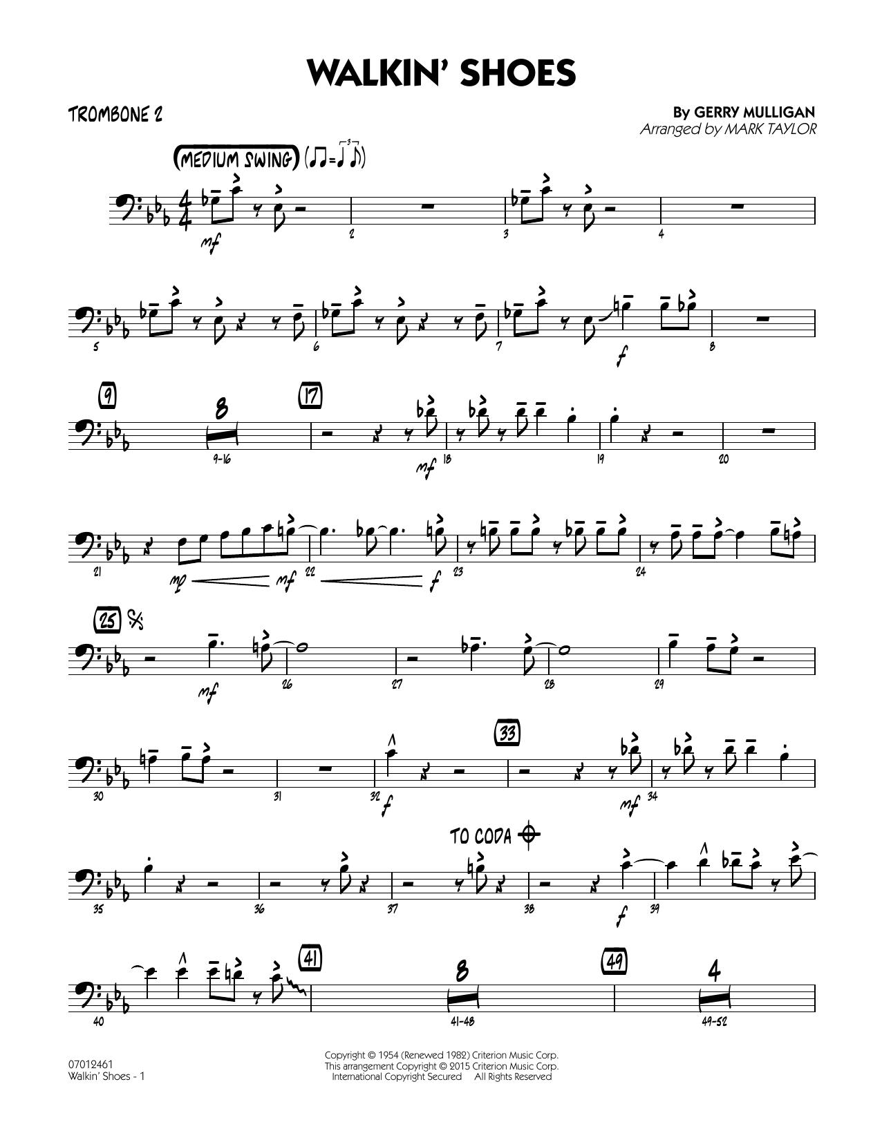 Walkin' Shoes - Trombone 2 (Jazz Ensemble)