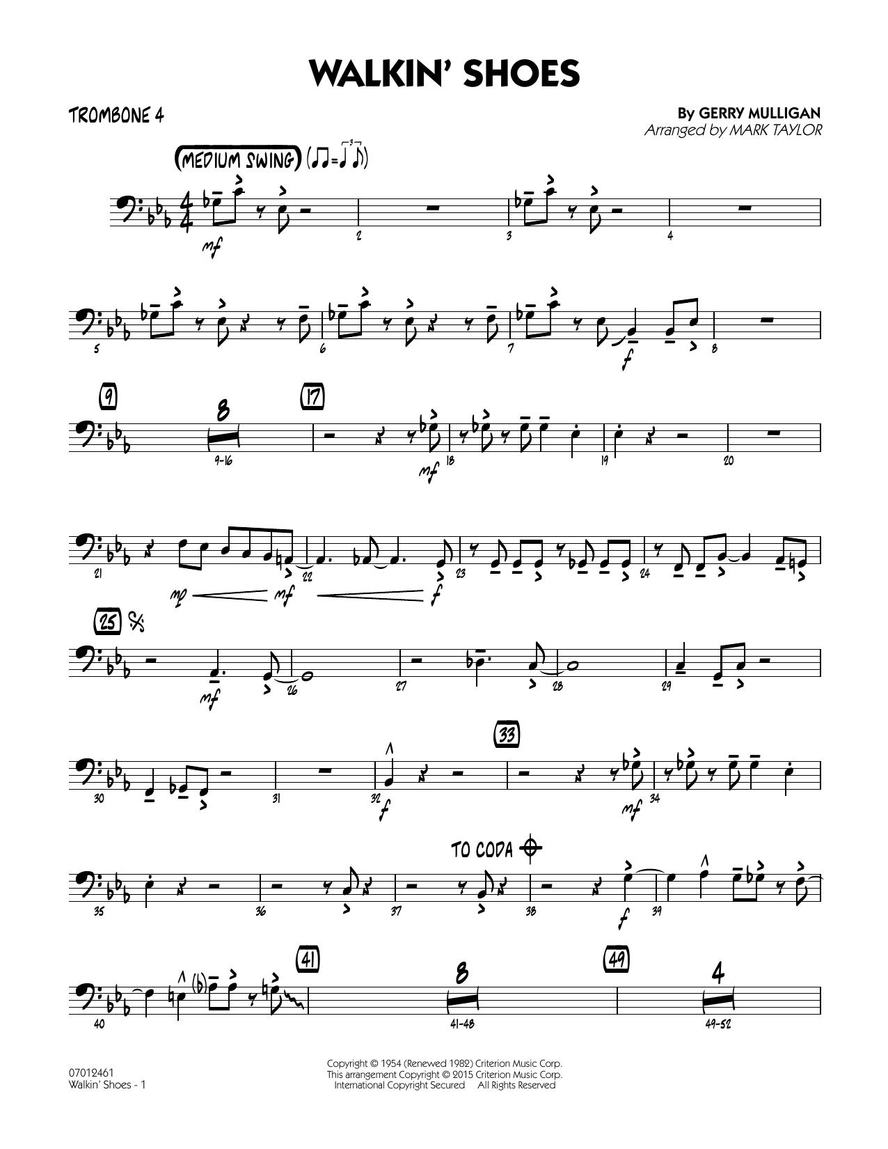 Walkin' Shoes - Trombone 4 (Jazz Ensemble)