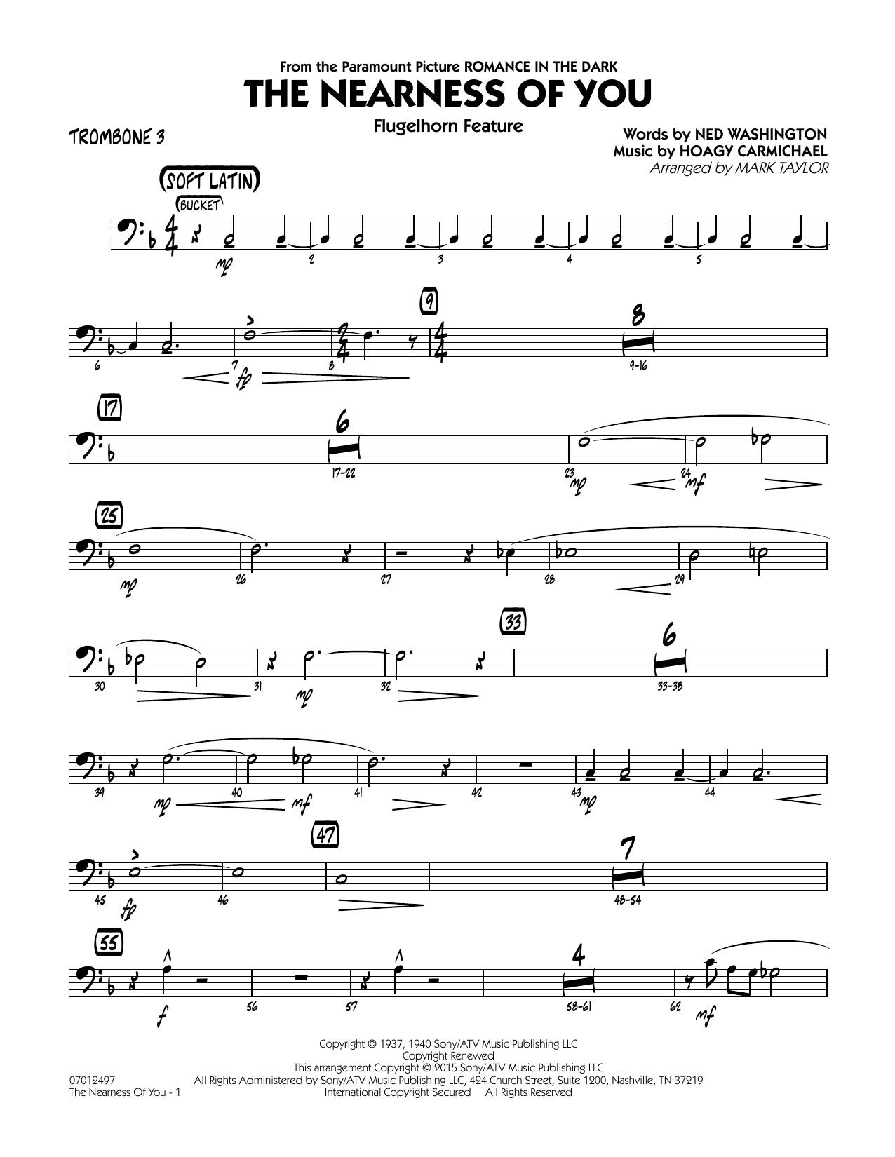 The Nearness of You (Flugelhorn Feature) - Trombone 3 (Jazz Ensemble)