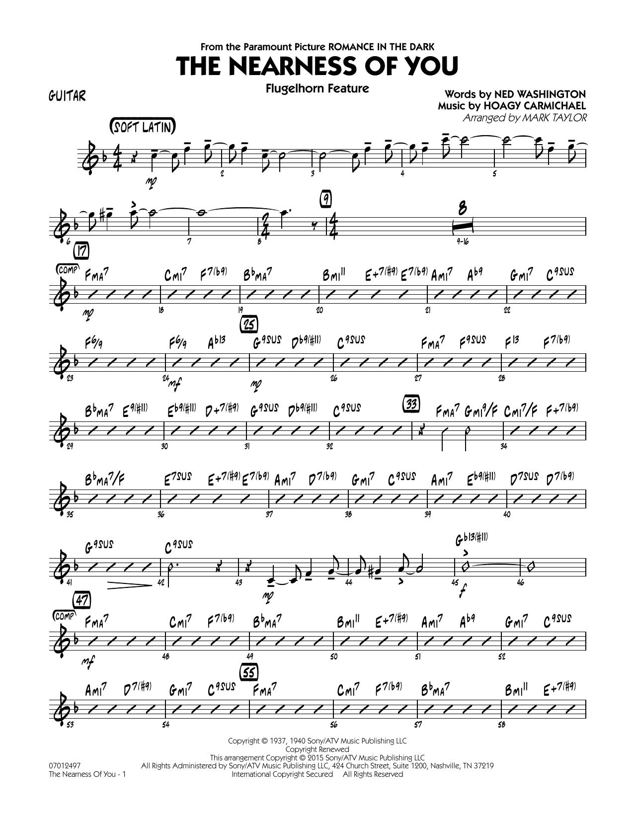 The Nearness of You (Flugelhorn Feature) - Guitar (Jazz Ensemble)