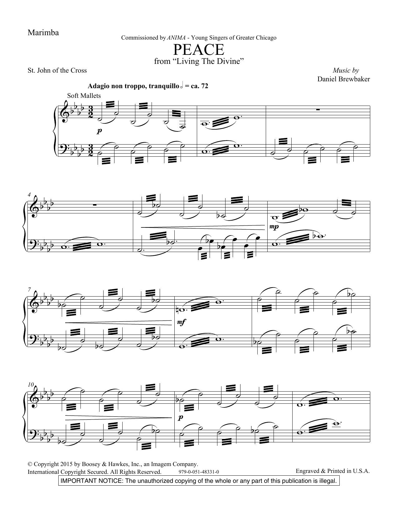 Peace - Marimba Sheet Music