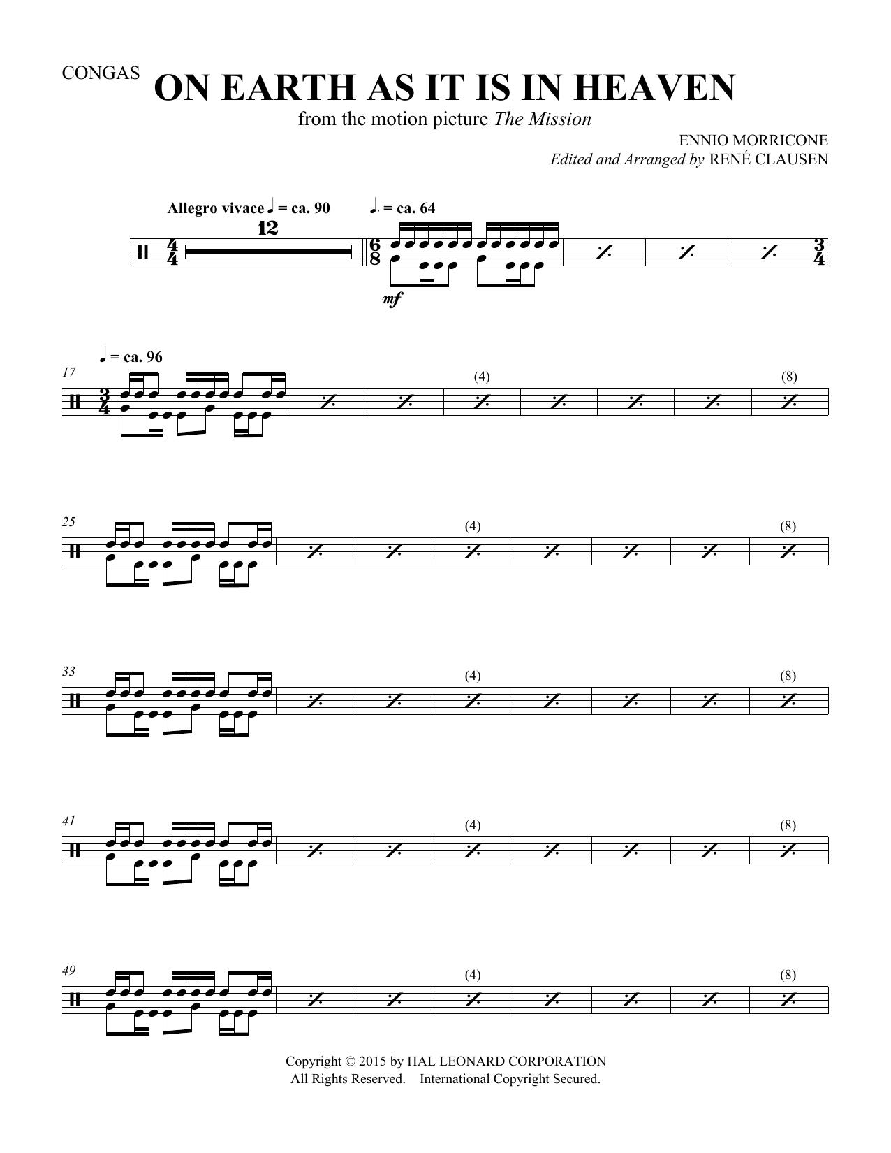 On Earth As It Is In Heaven - Congas (Choir Instrumental Pak)