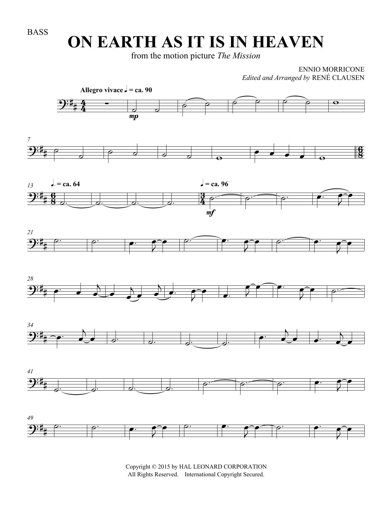 On Earth As It Is In Heaven - Double Bass (Choir Instrumental Pak)