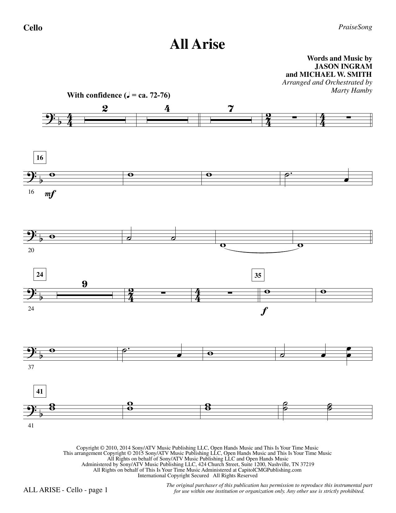 All Arise - Cello (Choir Instrumental Pak)
