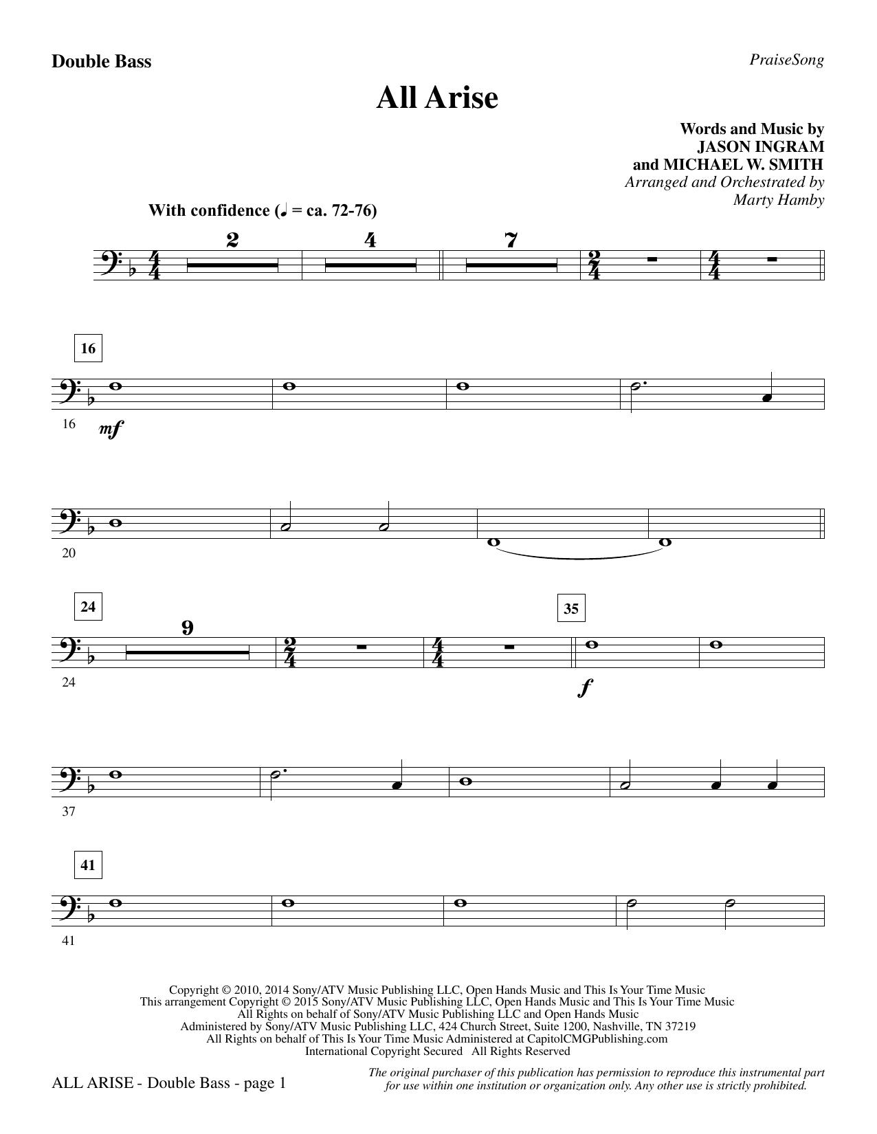 All Arise - Double Bass (Choir Instrumental Pak)
