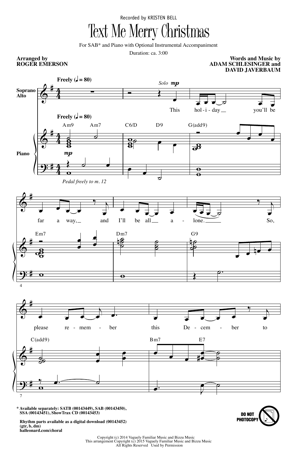 Text Me Merry Christmas (arr. Roger Emerson) (SAB Choir)