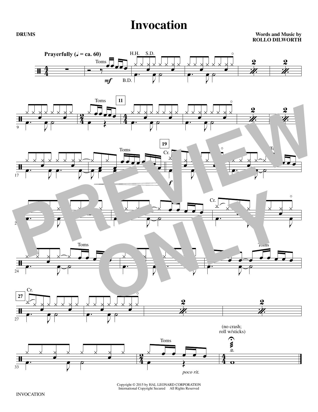 Invocation - Drums (Choir Instrumental Pak)