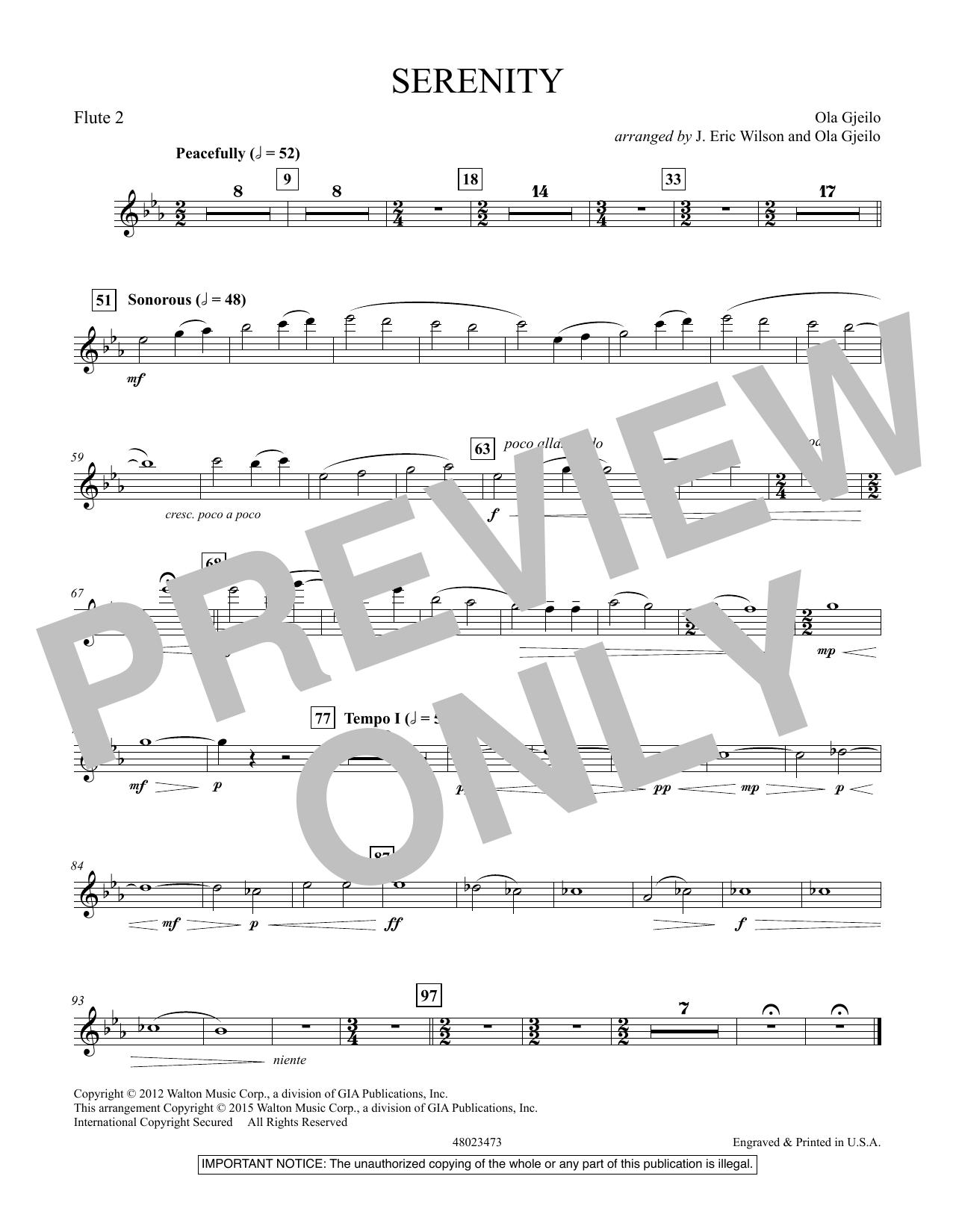 Serenity - Flute 2 (Concert Band)