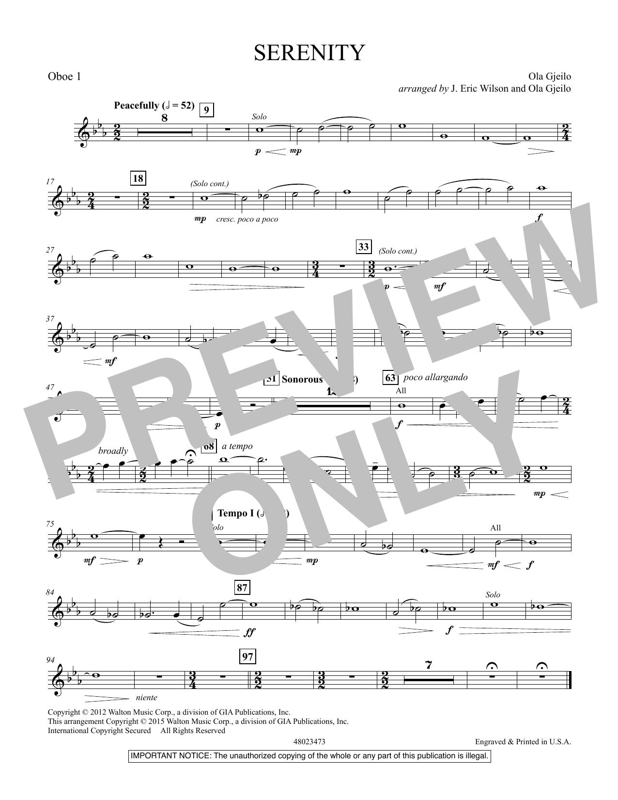 Serenity - Oboe 1 (Concert Band)