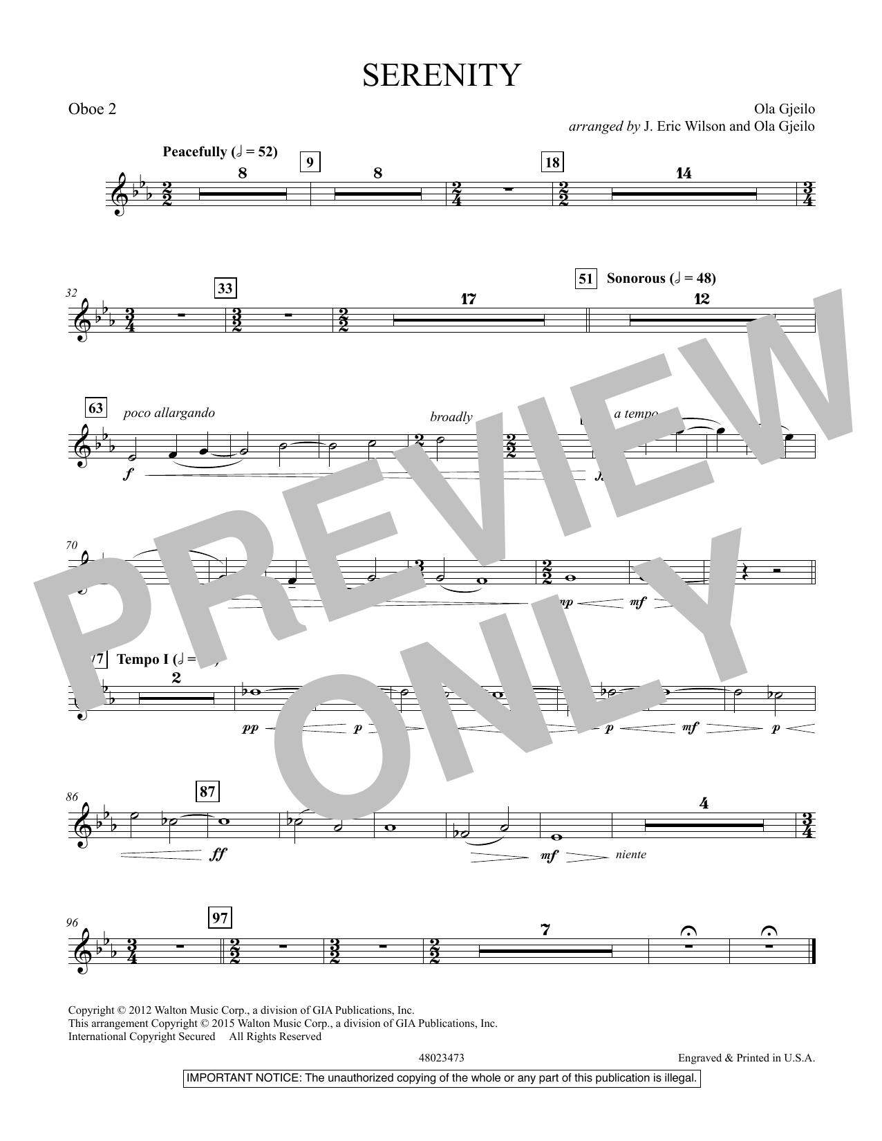 Serenity - Oboe 2 (Concert Band)