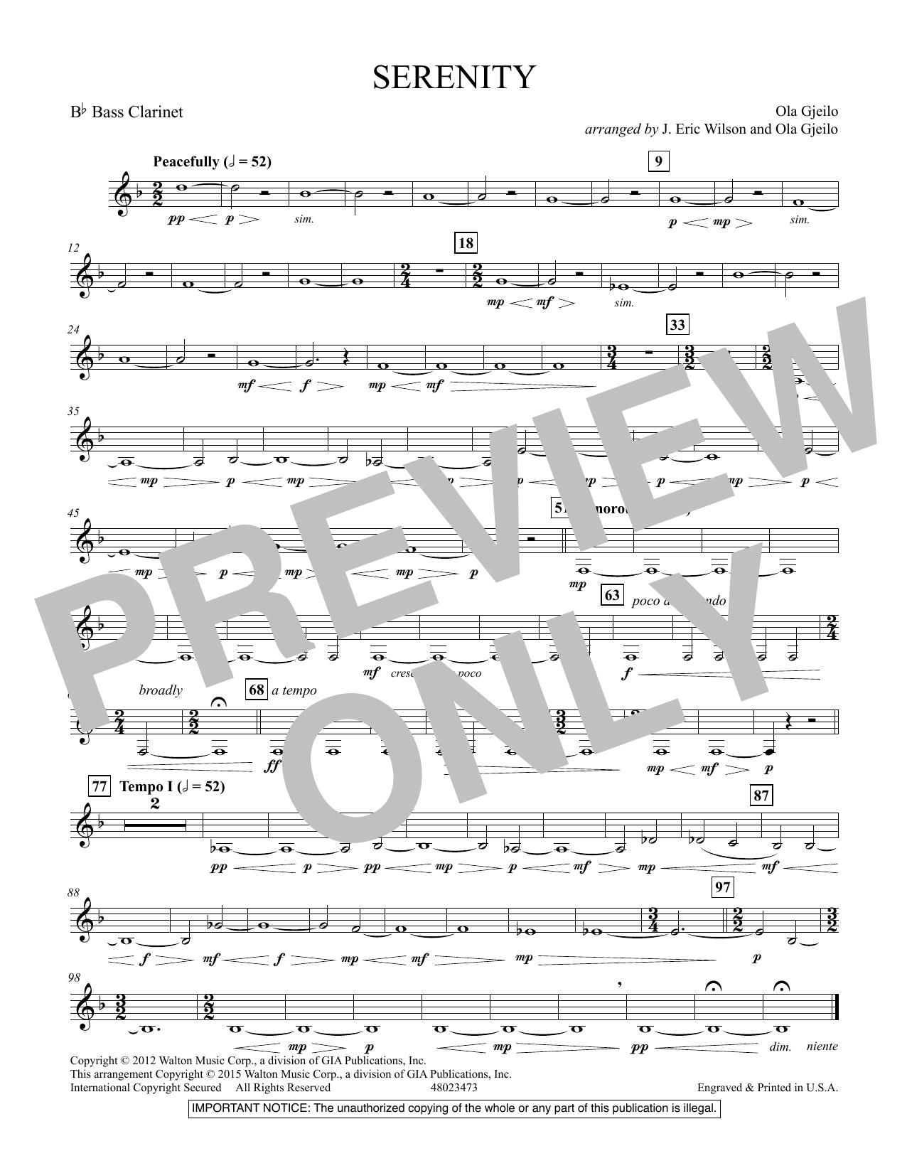 Serenity - Bb Bass Clarinet (Concert Band)