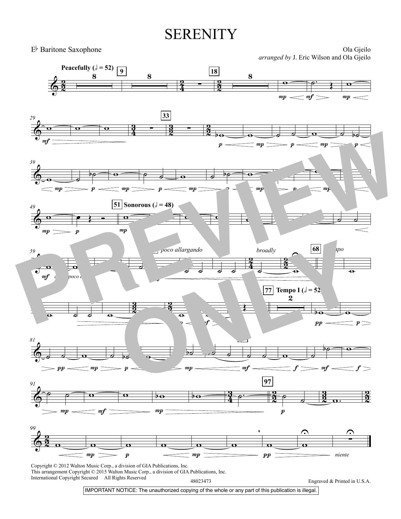 Serenity - Eb Baritone Sax (Concert Band)