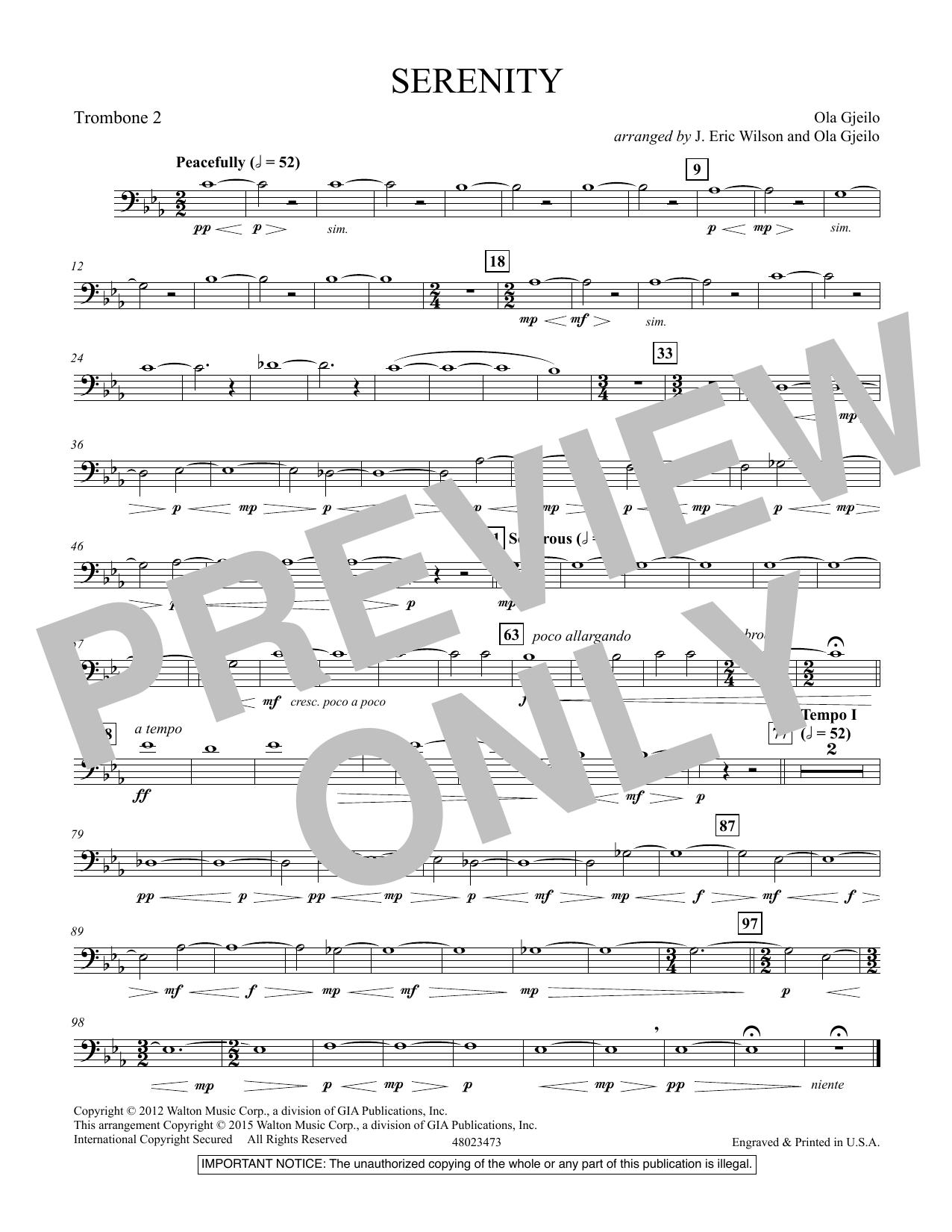 Serenity - Trombone 2 (Concert Band)