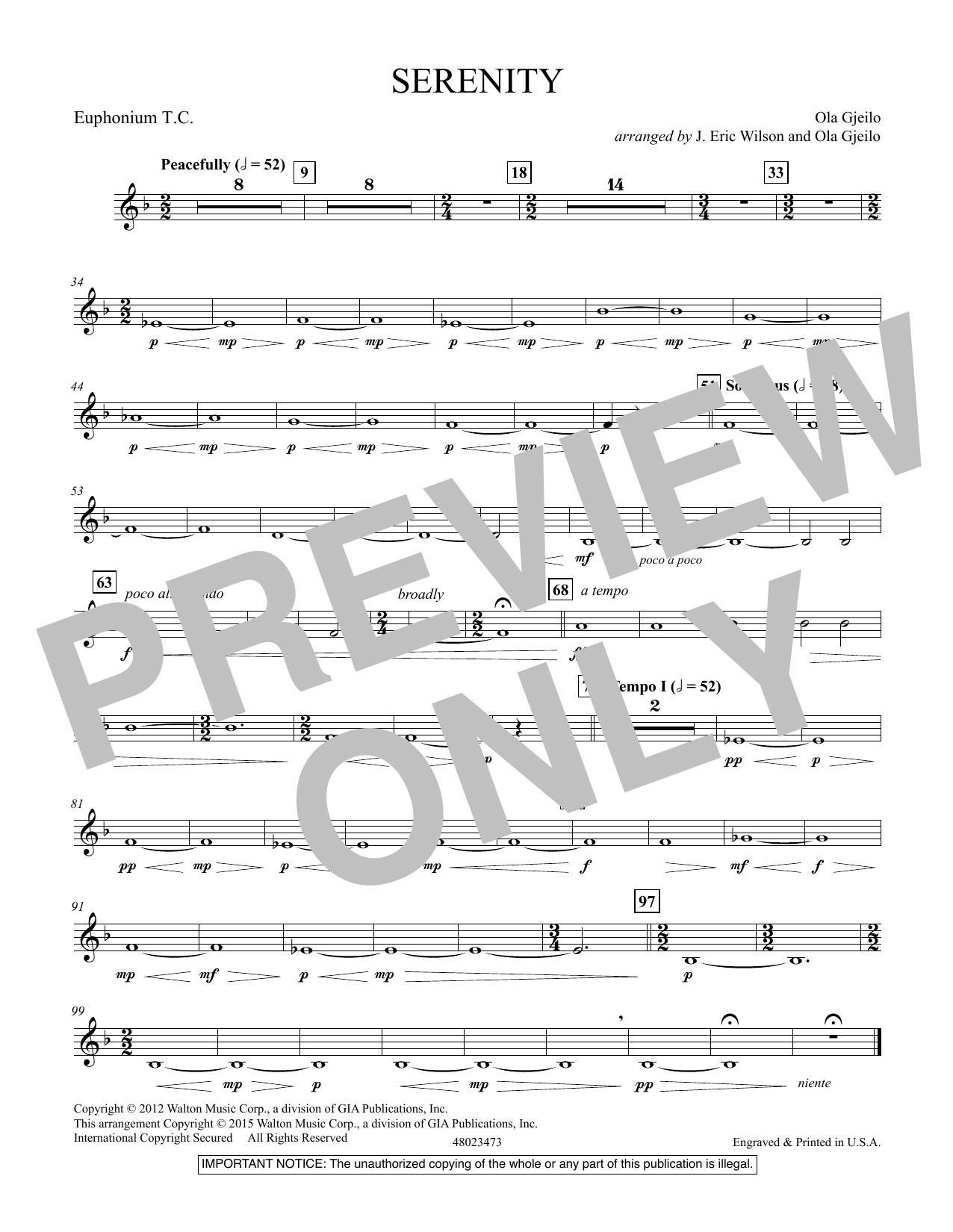 Serenity - Euphonium T.C. (Concert Band)