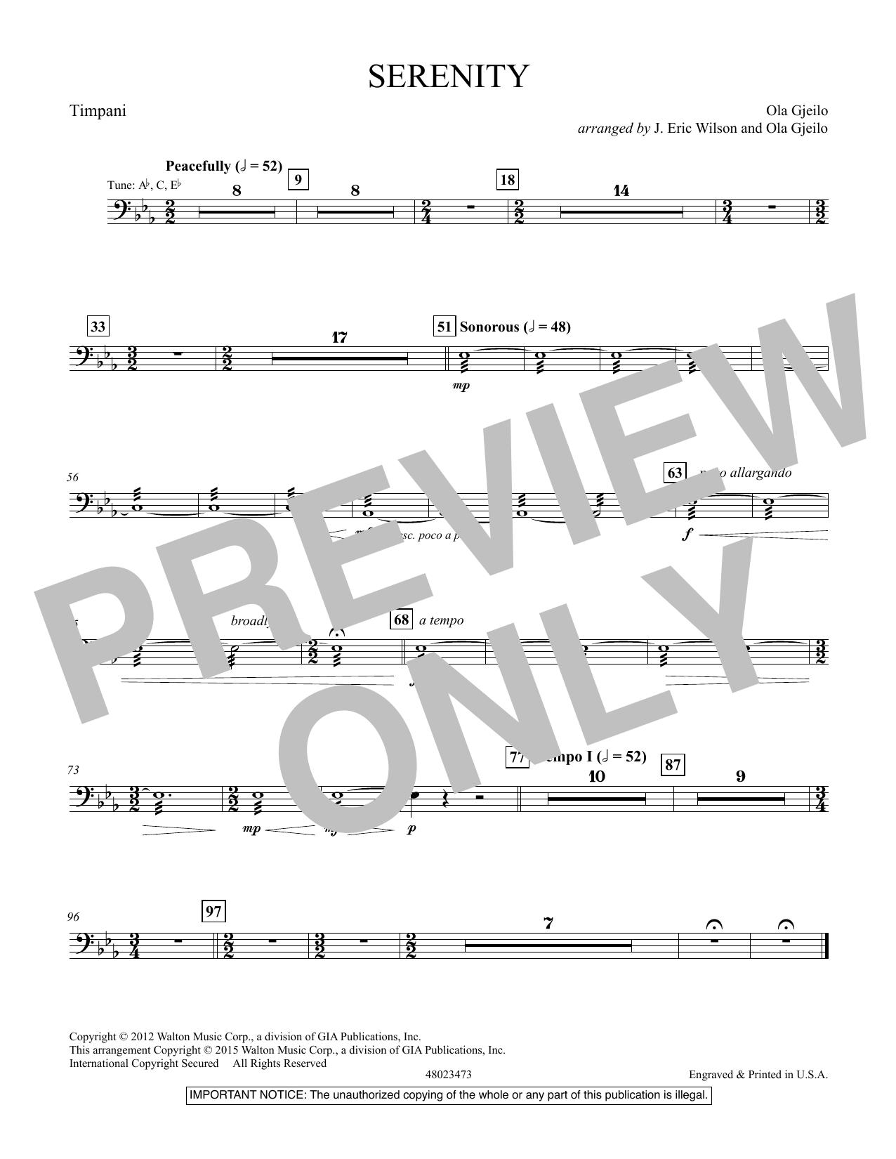 Serenity - Timpani (Concert Band)