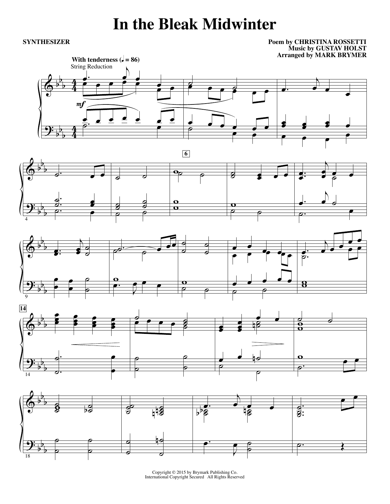 In The Bleak Midwinter - Synthesizer (Choir Instrumental Pak)