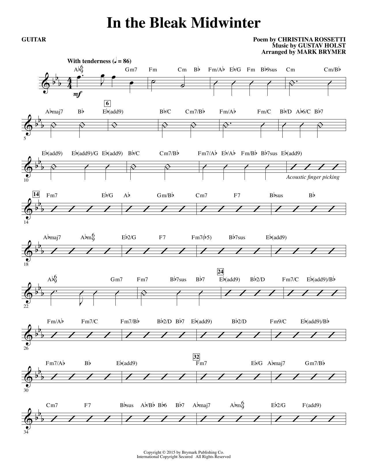 In The Bleak Midwinter - Guitar (Choir Instrumental Pak)