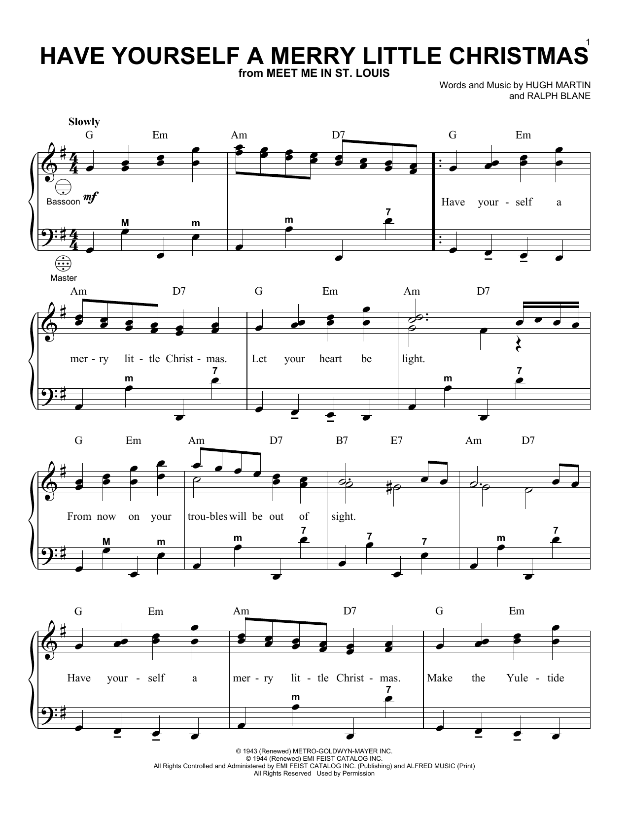 Merry Little Christmas Lyrics.Have Yourself A Merry Little Christmas Accordion Print Sheet Music