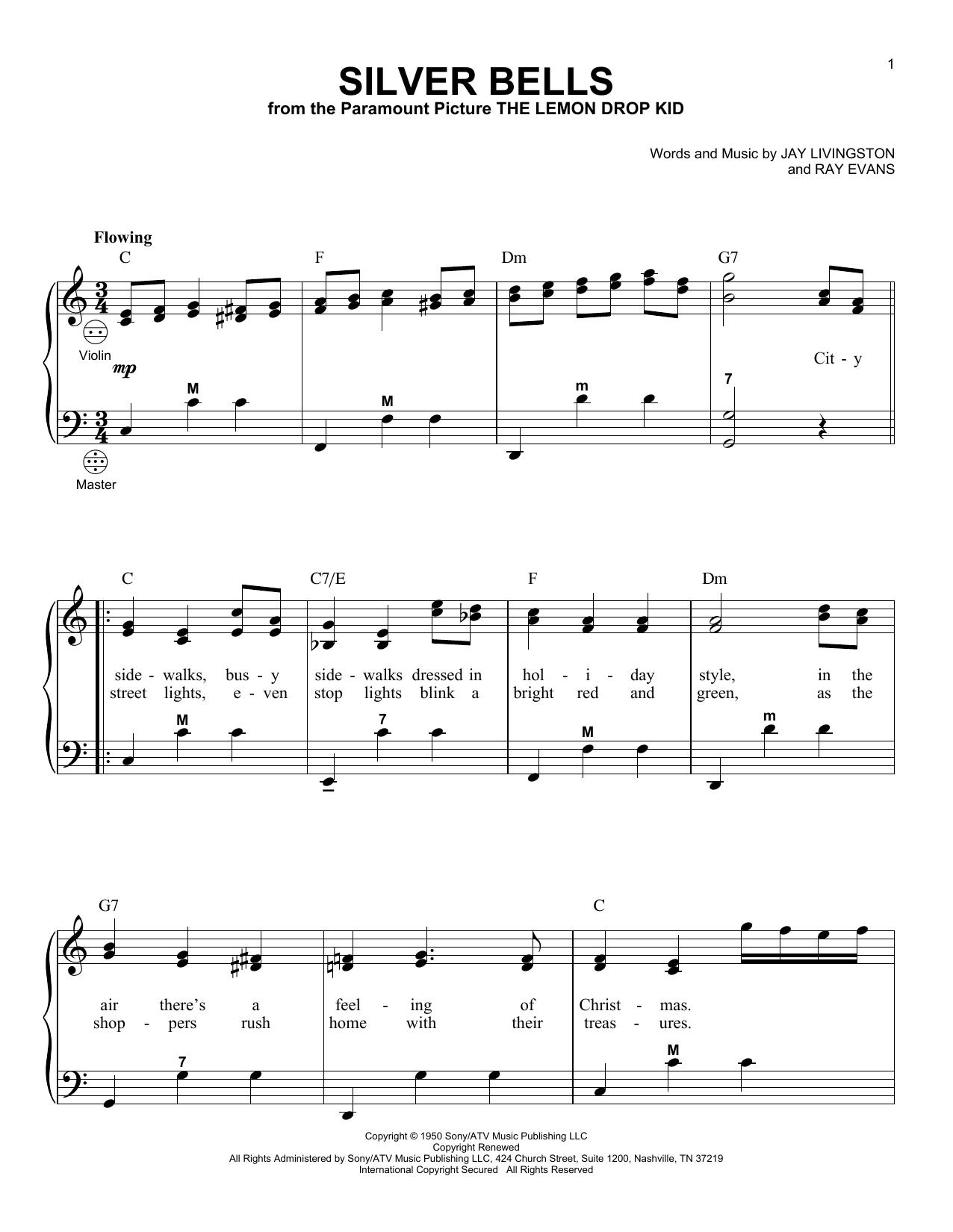 Partition autre Silver Bells de Gary Meisner - Accordeon