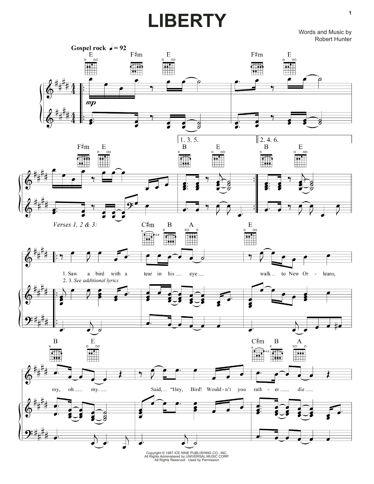 Liberty Sheet Music