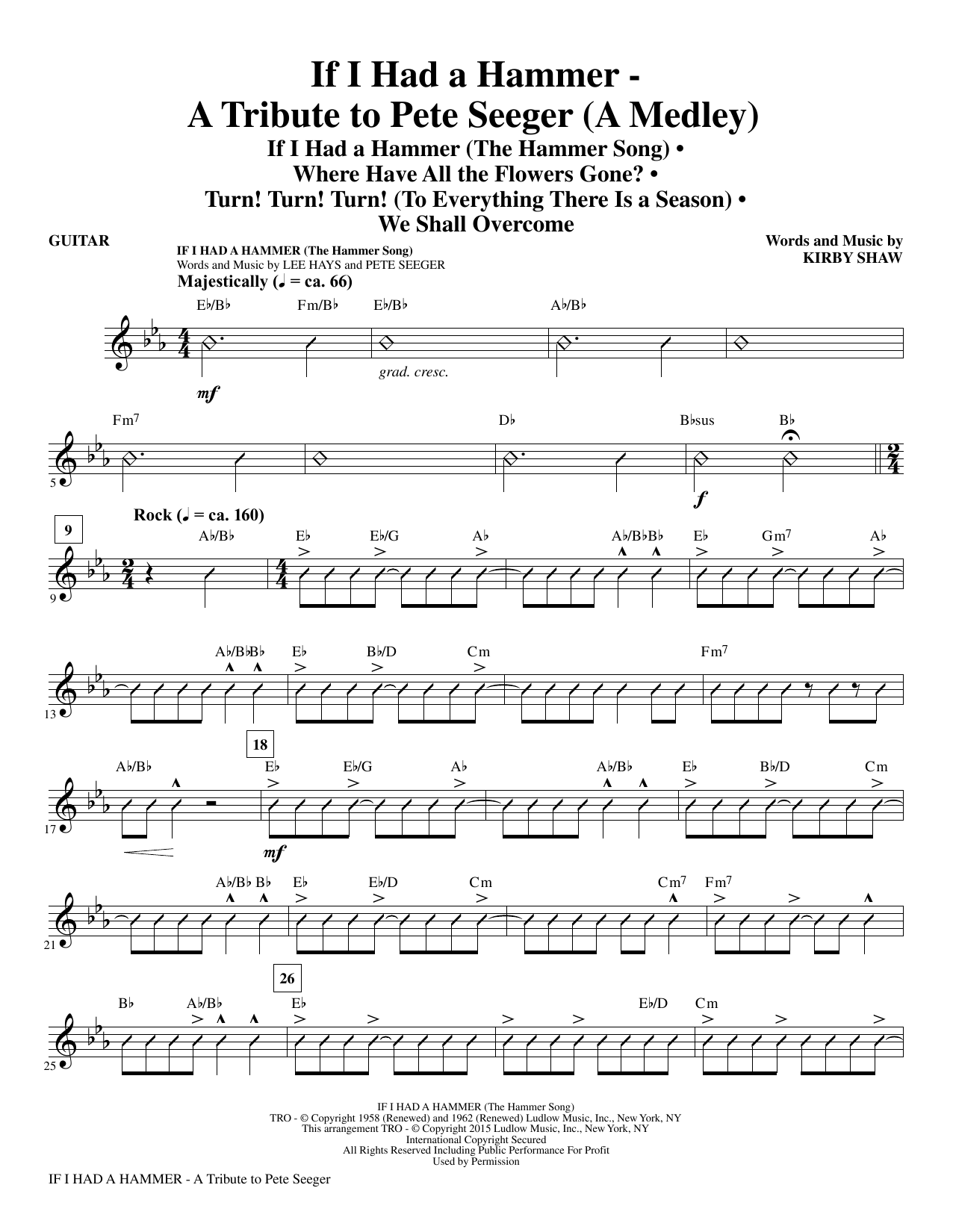 If I Had A Hammer - A Tribute to Pete Seeger - Guitar Sheet Music