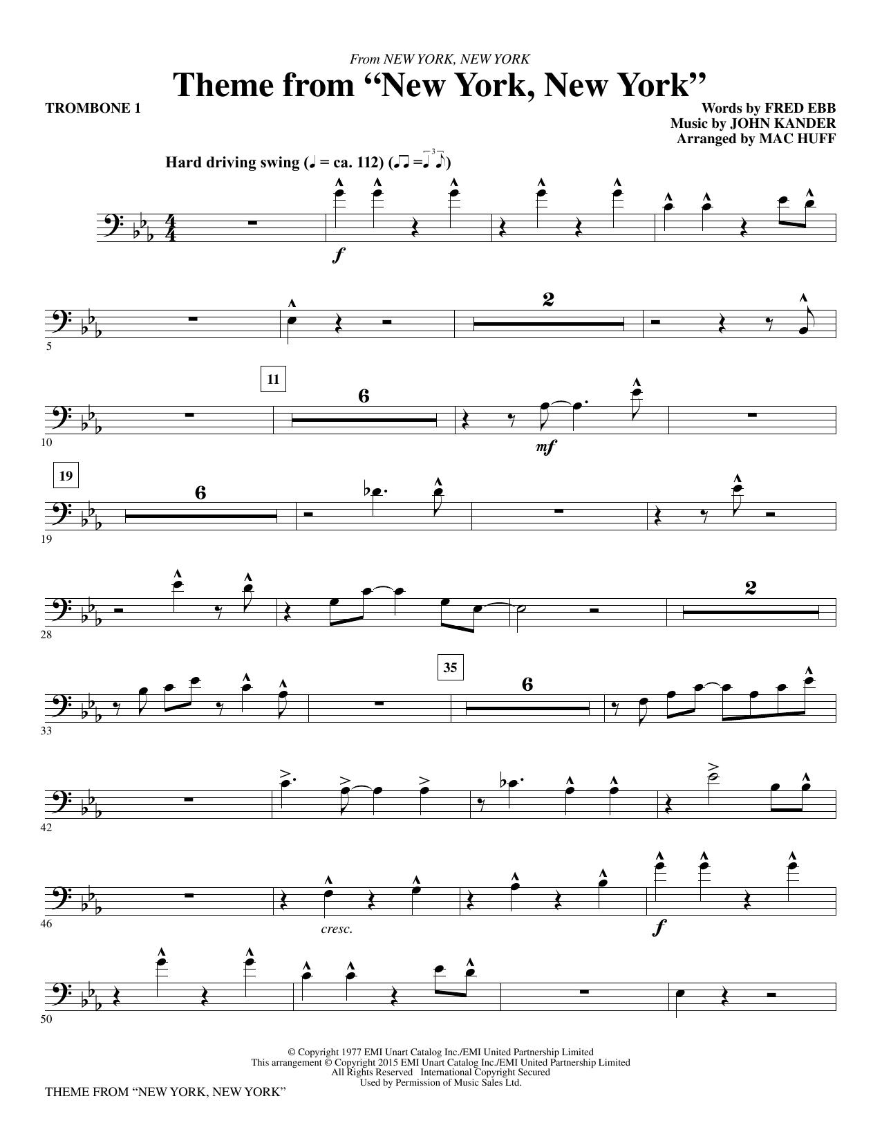 "Theme from ""New York, New York"" - Trombone 1 (Choir Instrumental Pak)"
