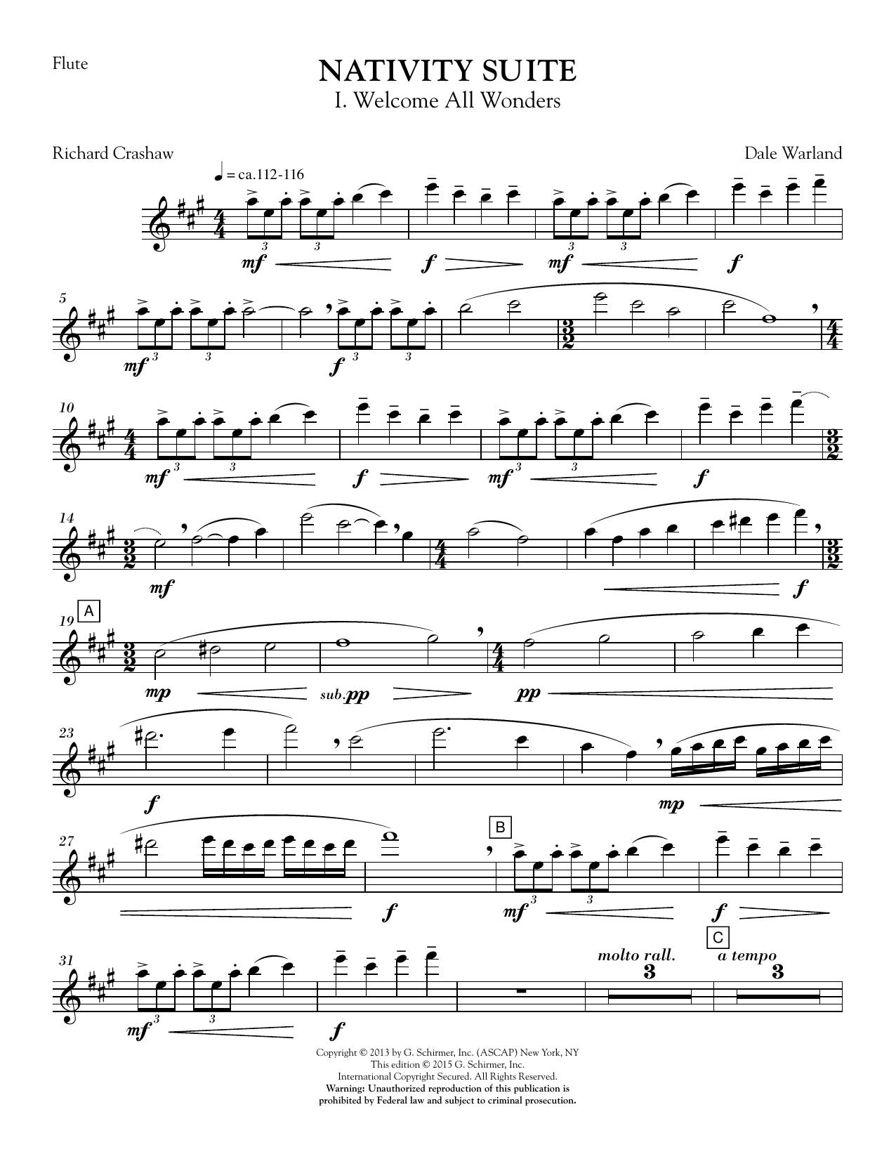 Nativity Suite - Flute (Choir Instrumental Pak)