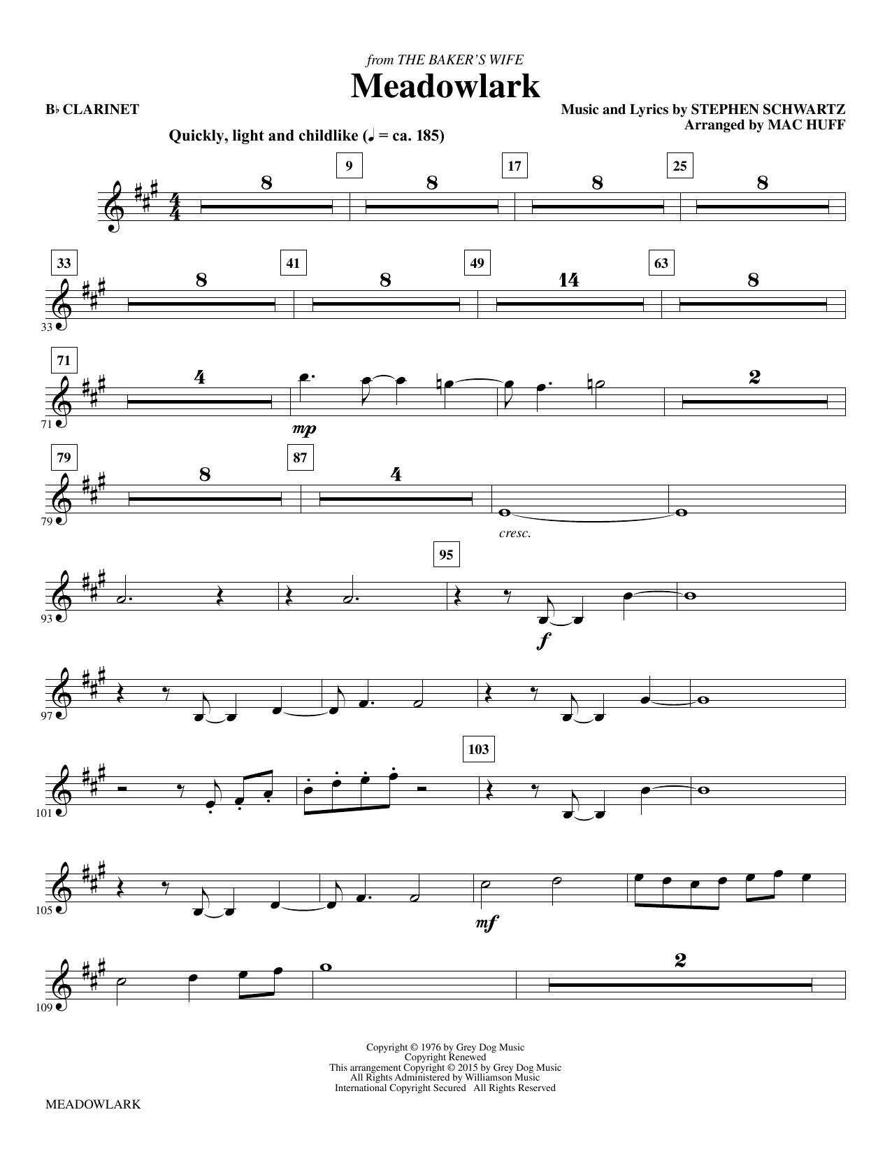 Meadowlark - Bb Clarinet (Choir Instrumental Pak)