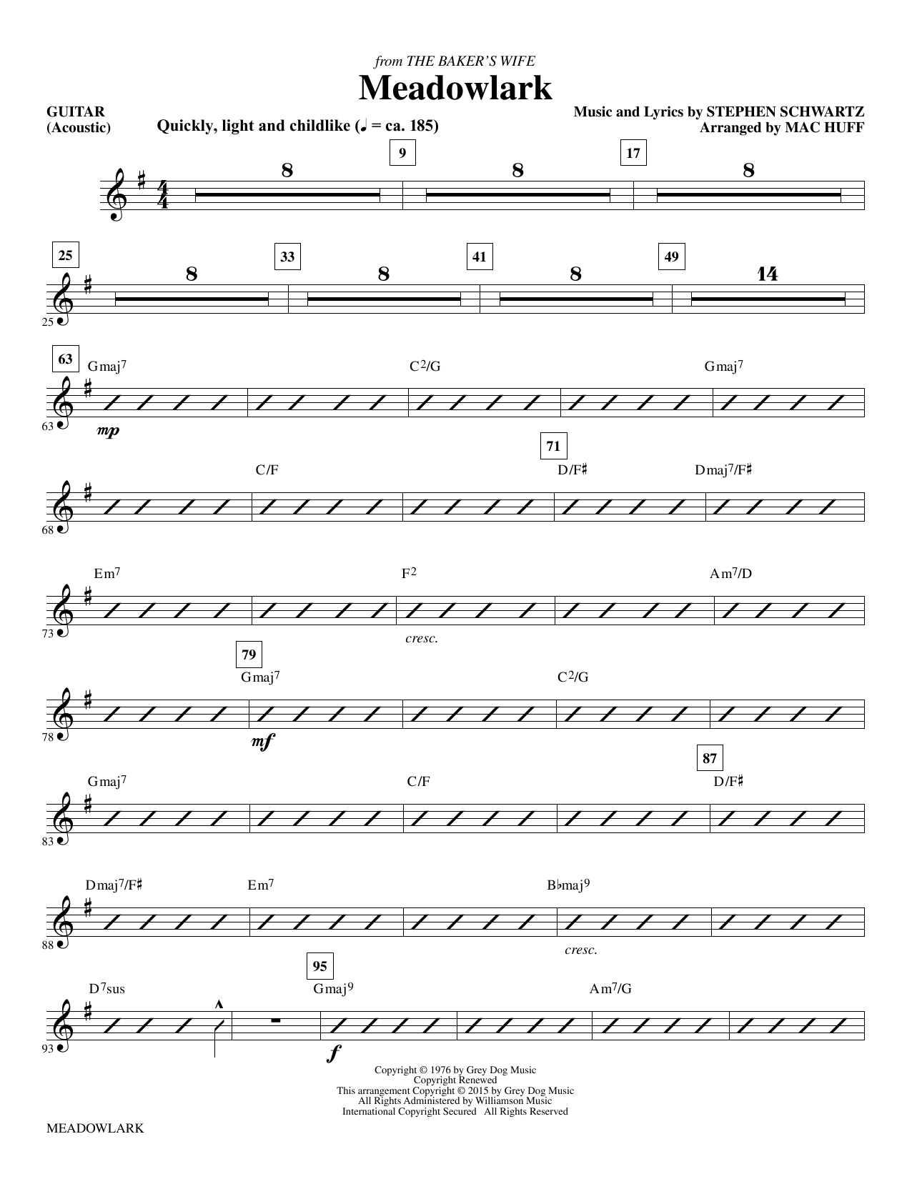 Meadowlark - Guitar (Choir Instrumental Pak)