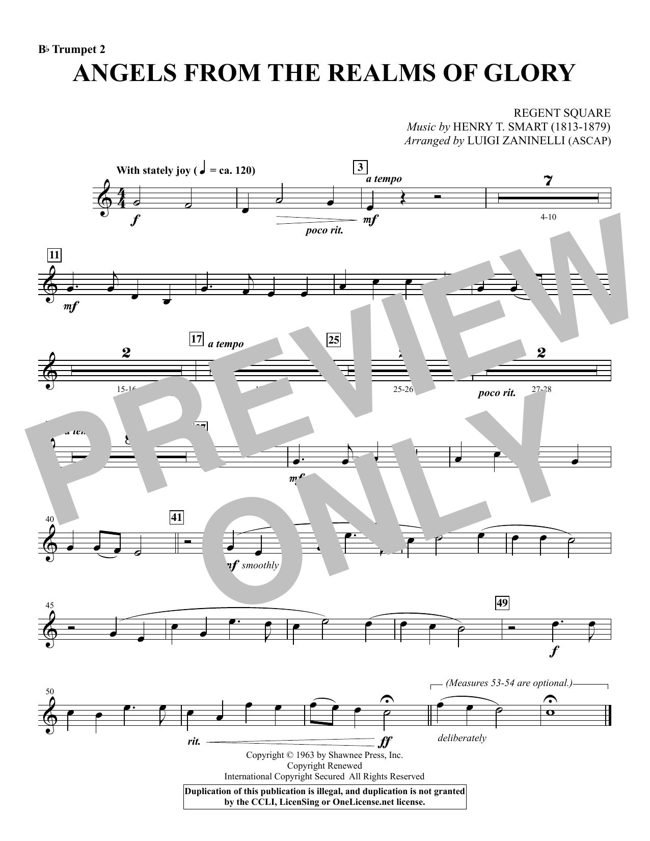 Angels from the Realms of Glory - Bb Trumpet 2 Sheet Music