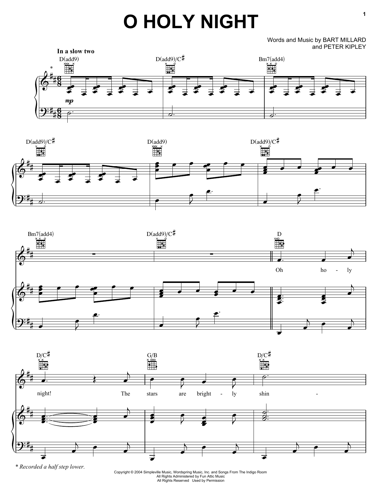 Oh Holy Night Sheet Music