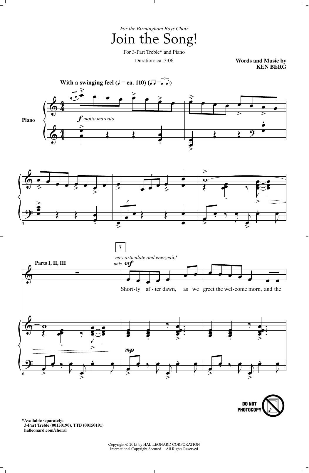 Join The Song! Sheet Music