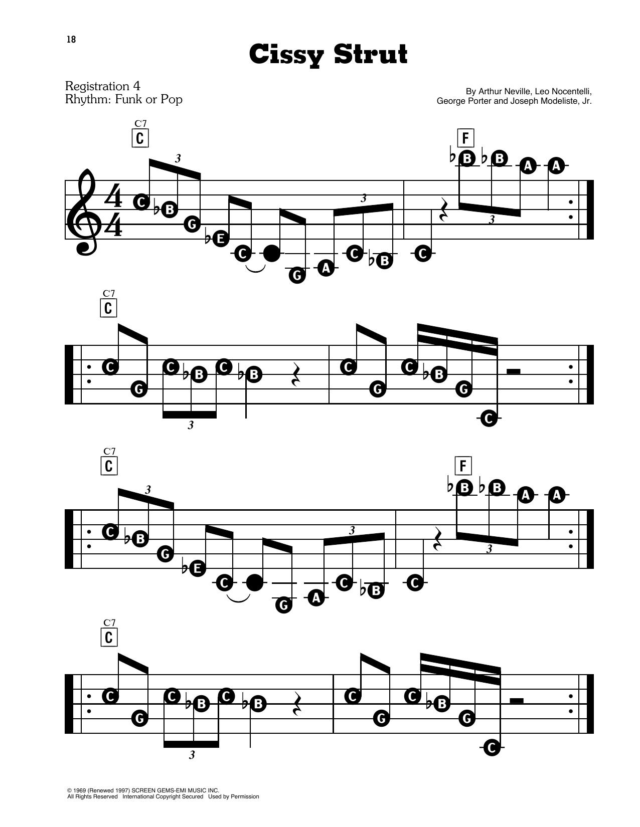 Cissy Strut (E-Z Play Today)