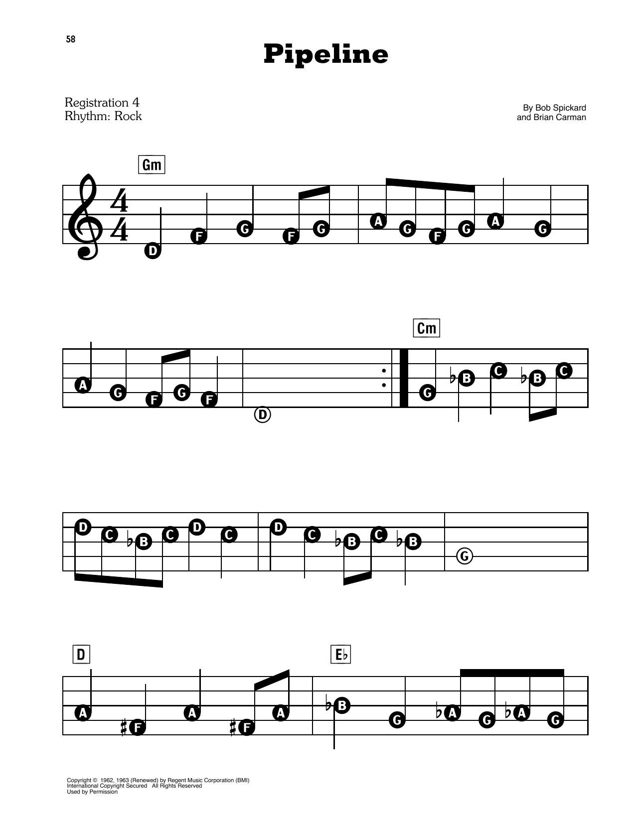 Pipeline Sheet Music