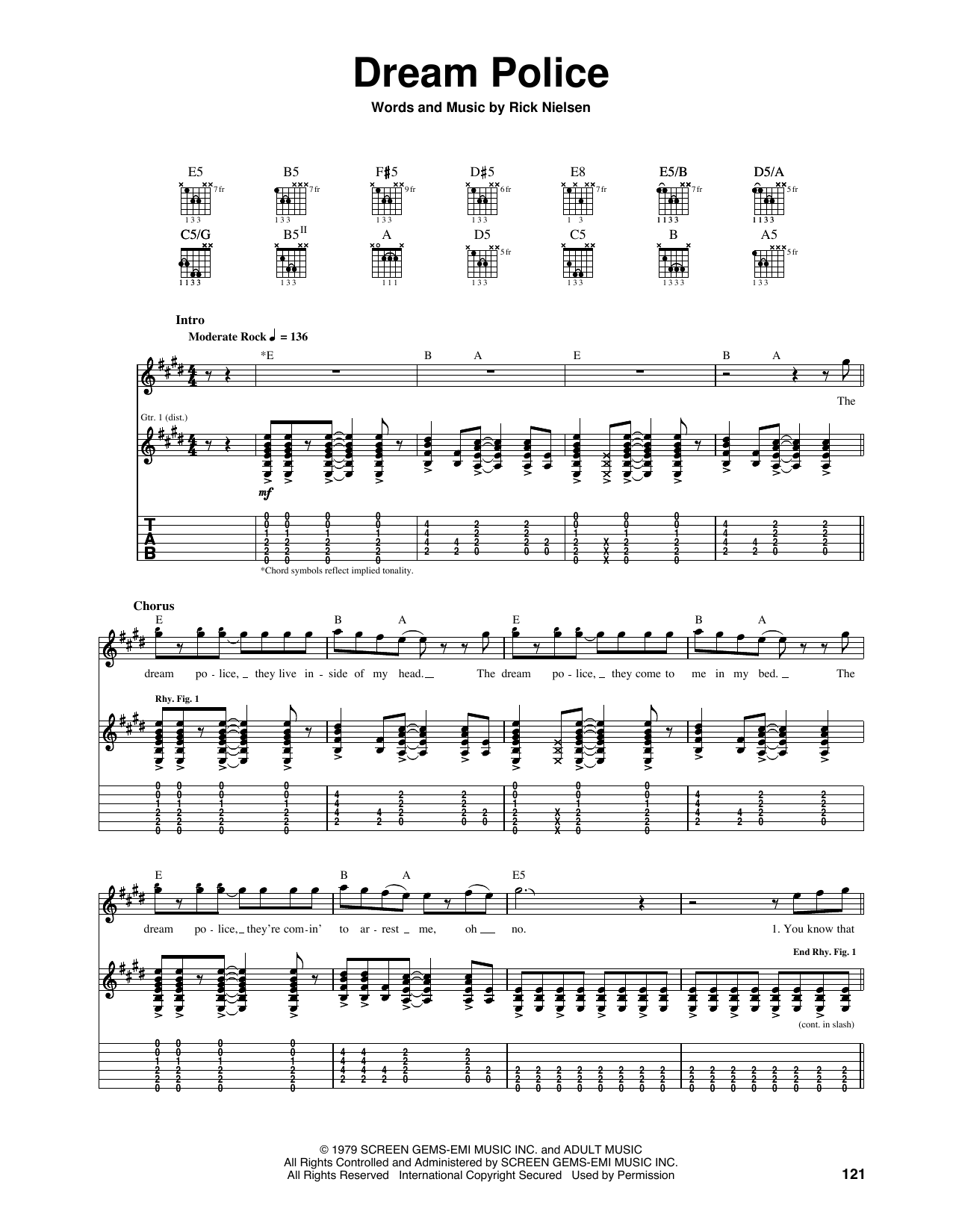 Dream Police Sheet Music