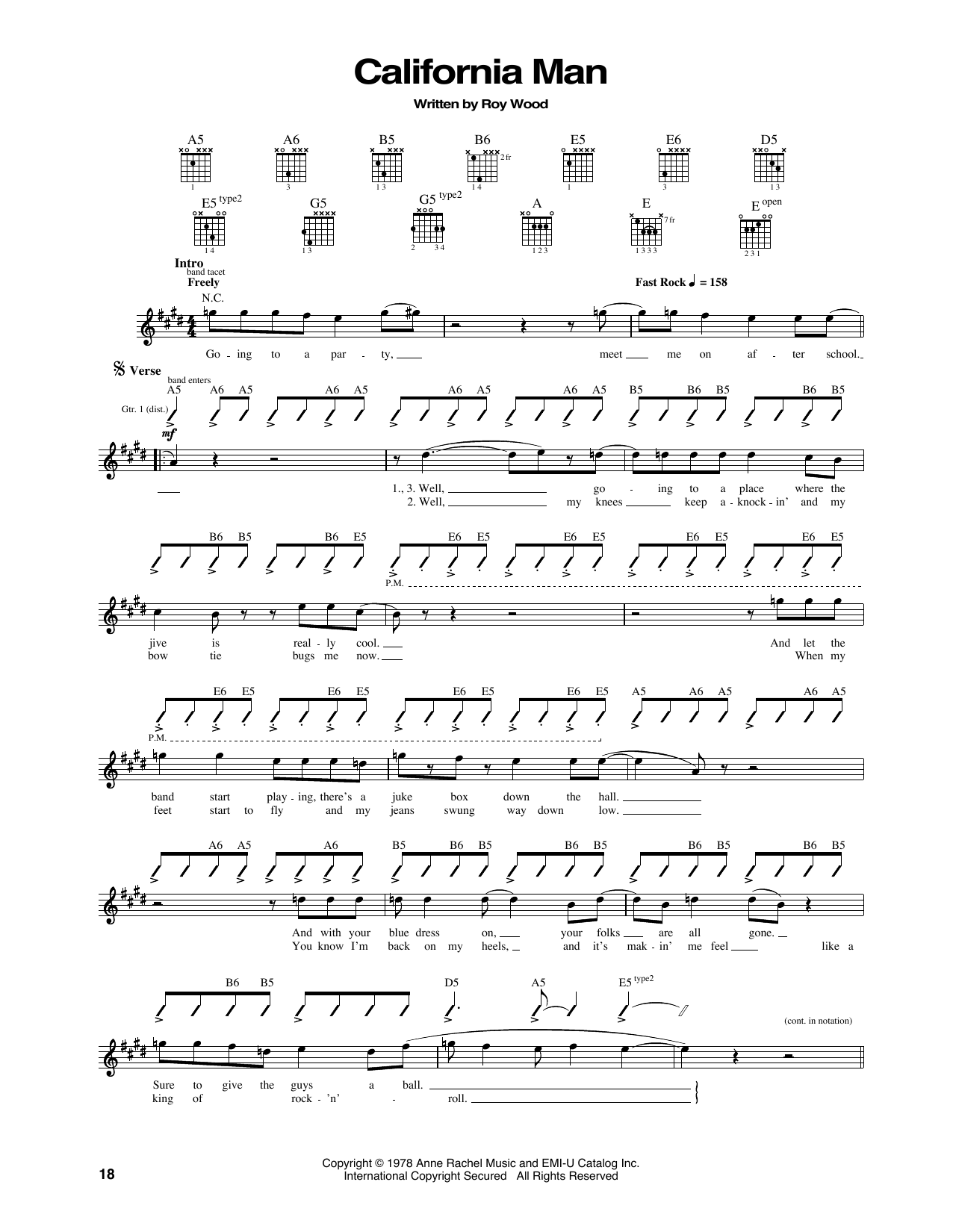California Man Sheet Music